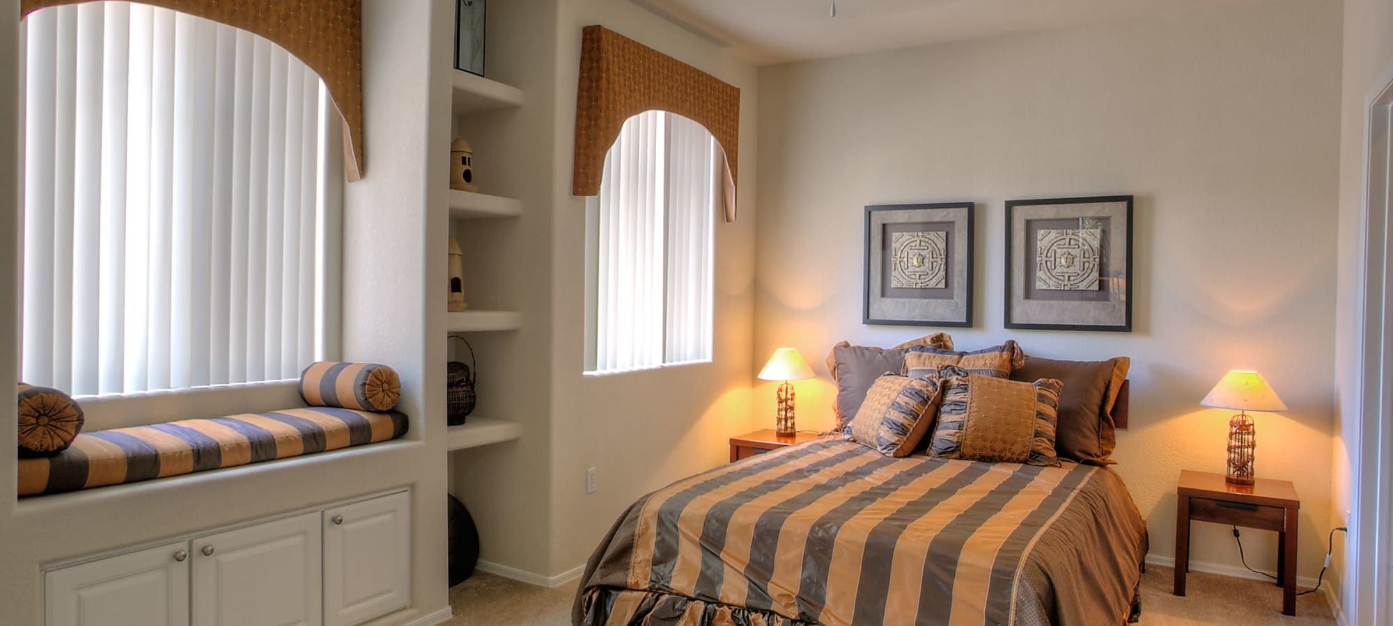 Bedroom with built in storage at Remington Ranch in Litchfield Park, Arizona