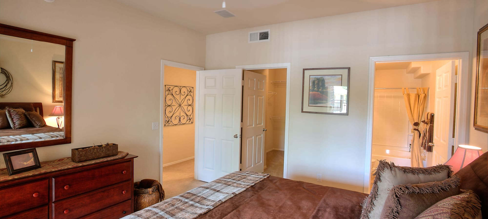 Spacious master bedroom with bathroom at Remington Ranch in Litchfield Park, Arizona