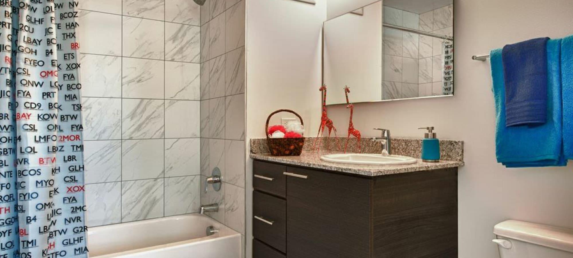 Luxury bathroom at apartments in Phoenix, Arizona
