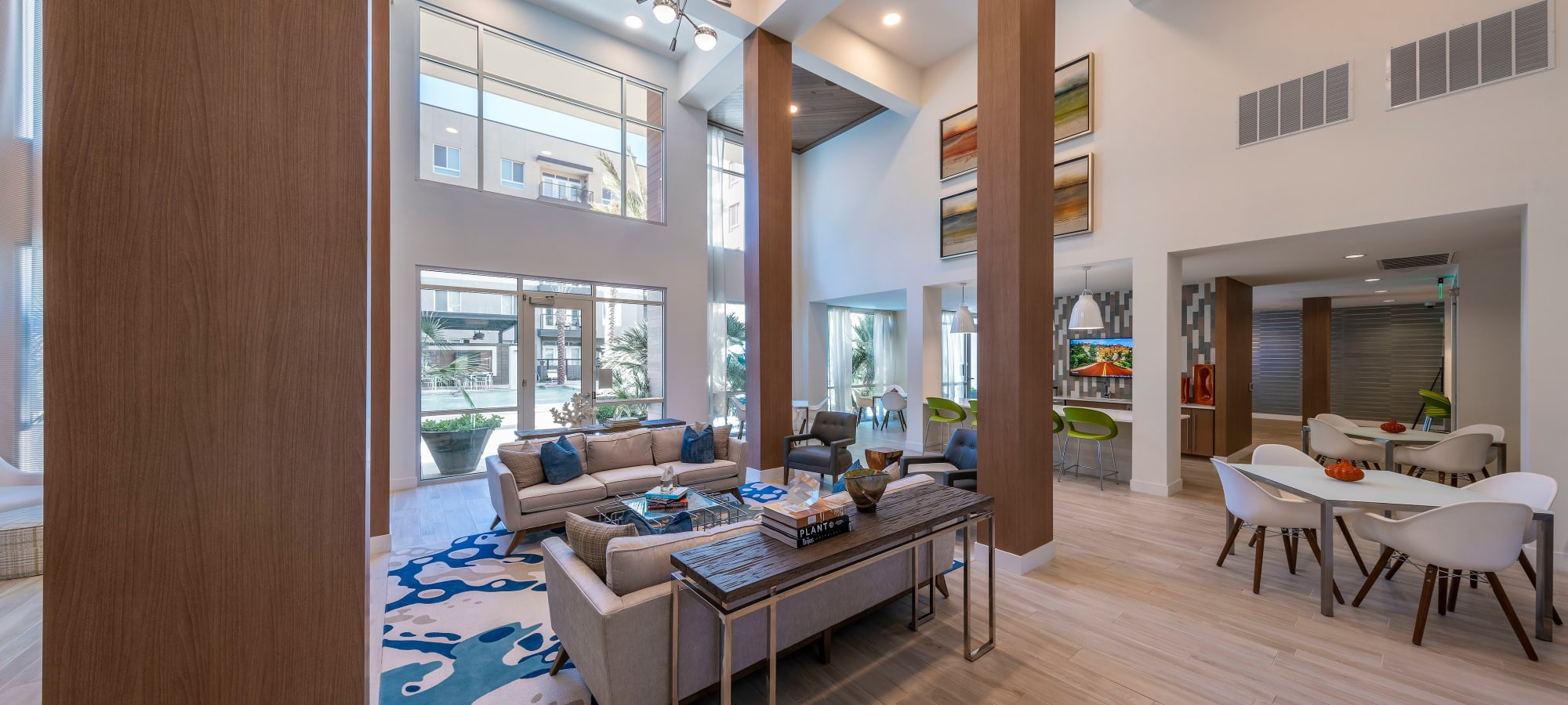 Luxurious resident clubhouse interior at Carter in Scottsdale, Arizona