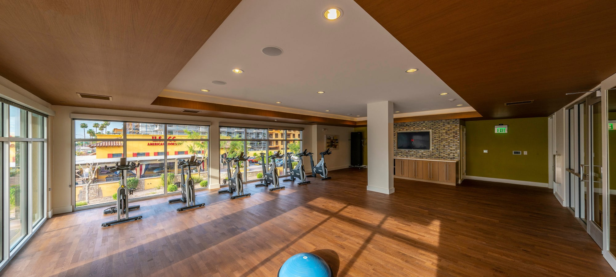 Spin class room at Carter in Scottsdale, Arizona