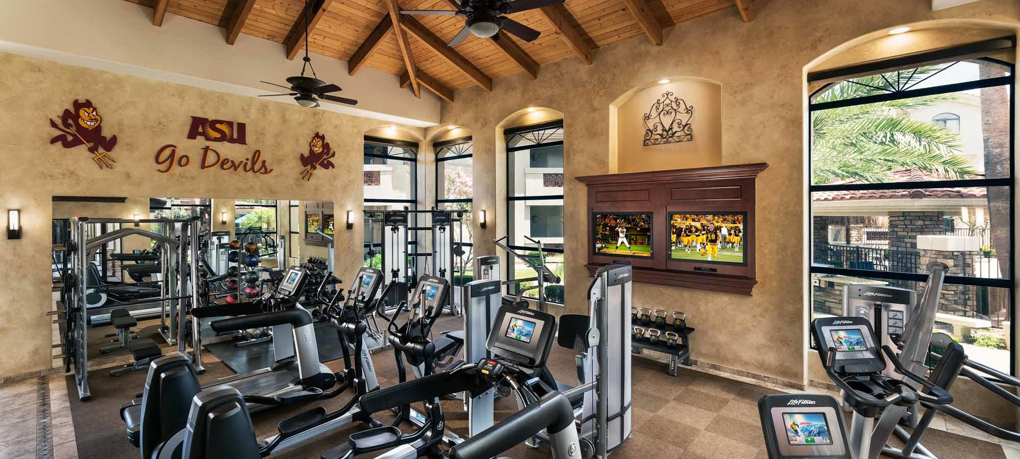 Fitness center at San Marbeya in Tempe, Arizona