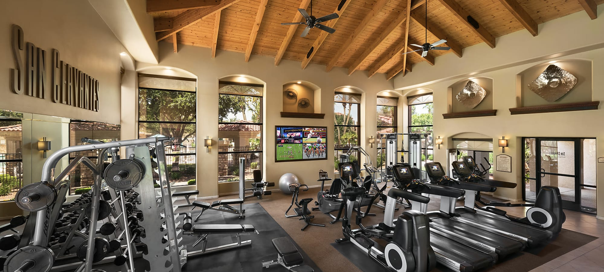 Luxury Fitness Center at San Cervantes in Chandler, Arizona