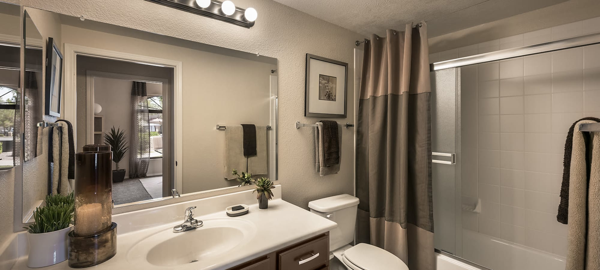 Luxury bathroom at San Cervantes in Chandler, Arizona