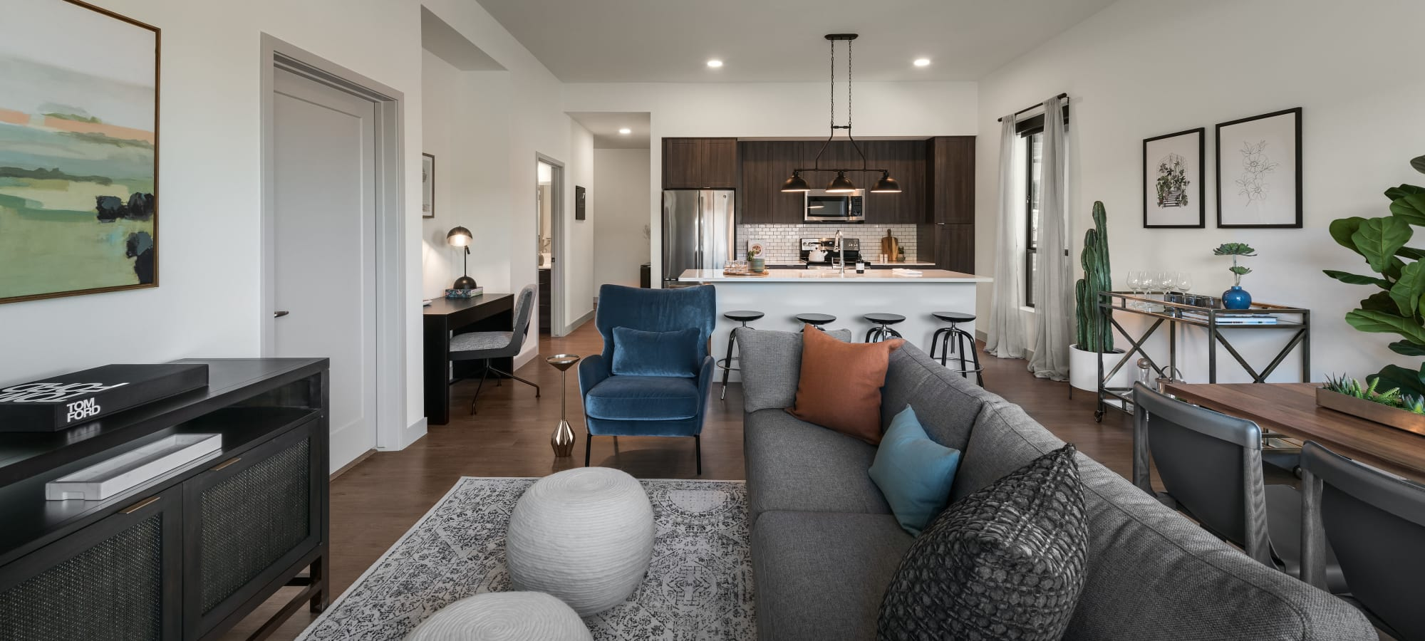 Open floorplan at The Astor at Osborn in Phoenix, Arizona