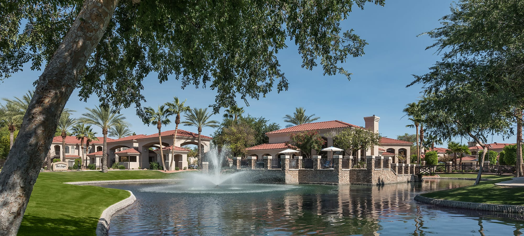 Community clubhouse exterior at San Lagos in Glendale, Arizona
