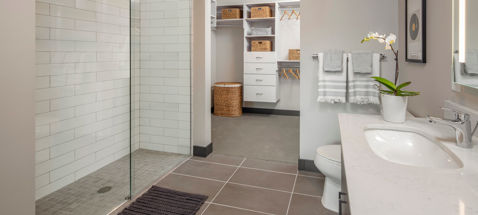 large and spacious bathroom at The Local Apartments in Tempe, Arizona
