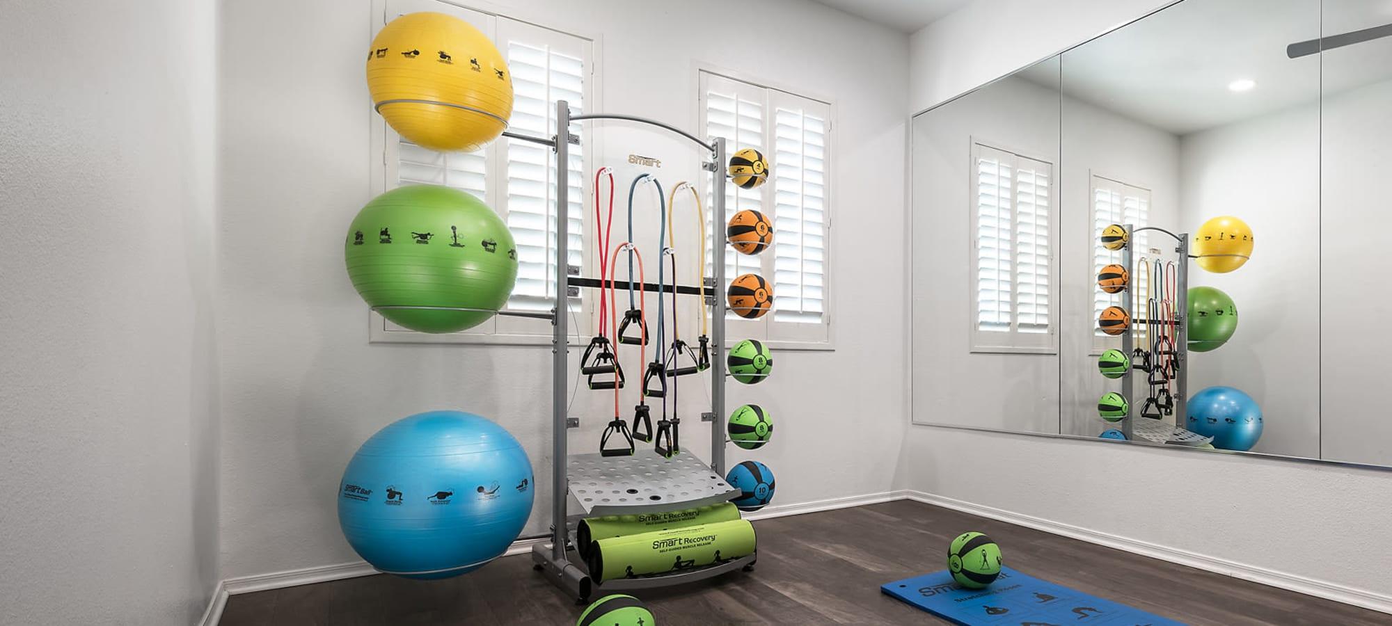 Yoga studio at Laguna at Arrowhead Ranch in Glendale, Arizona