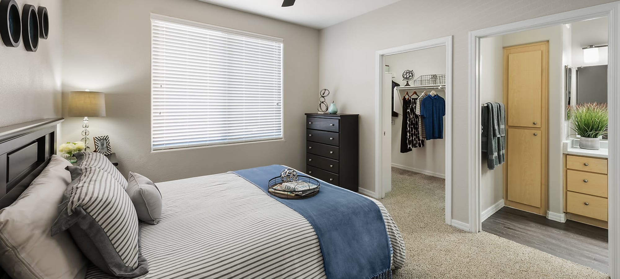 Bedroom with walk in closets at Laguna at Arrowhead Ranch in Glendale, Arizona