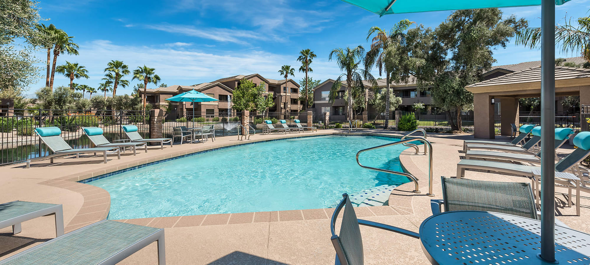 Spacious swimming pool at Laguna at Arrowhead Ranch in Glendale, Arizona