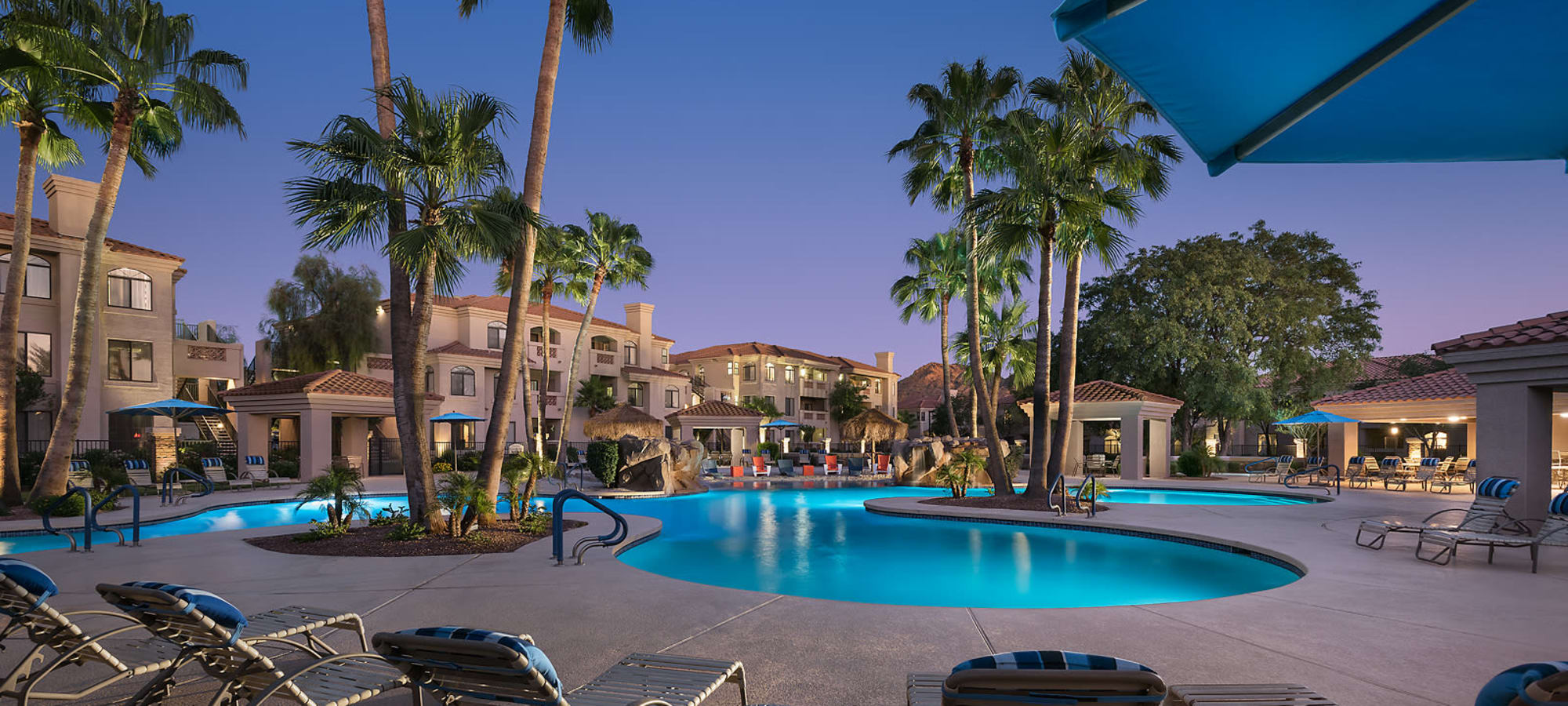 Beautiful swimming pool area at San Pedregal in Phoenix, Arizona