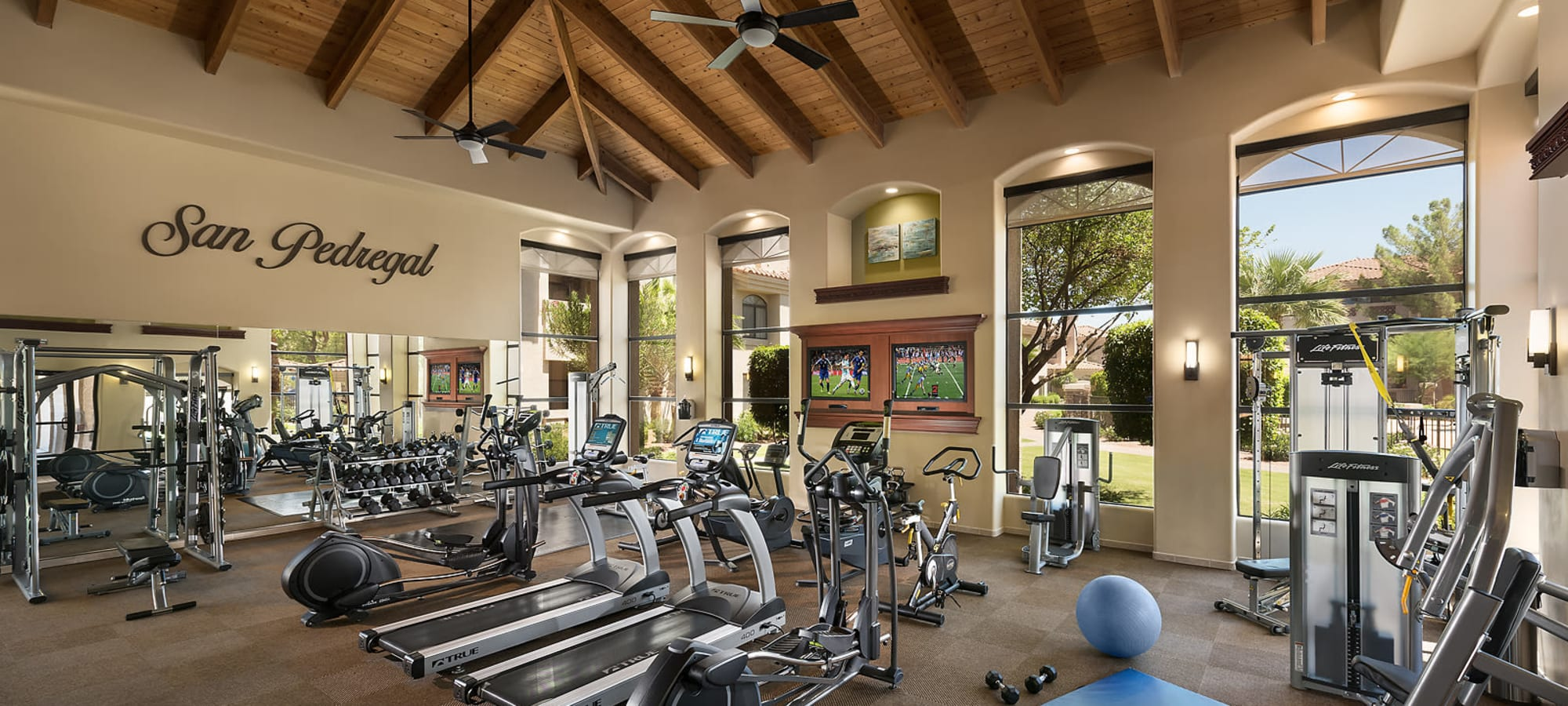 24 hour resident fitness center at San Pedregal in Phoenix, Arizona