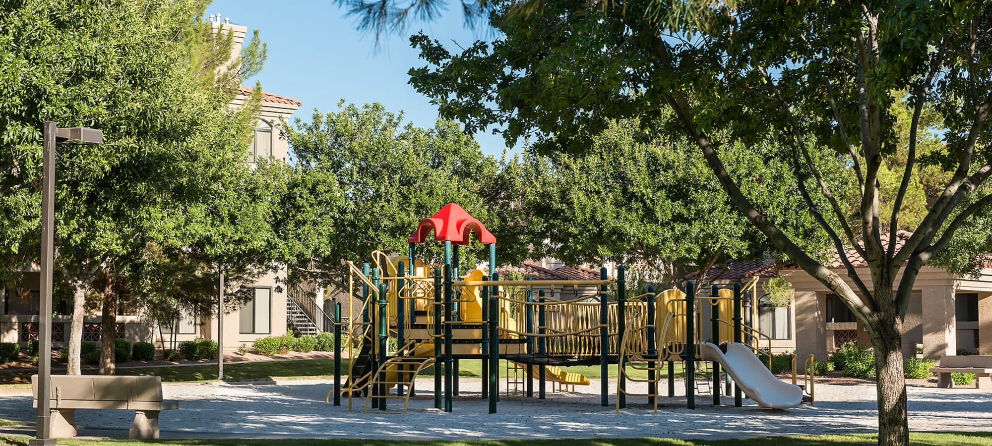 Onsite children's playground at San Pedregal in Phoenix, Arizona
