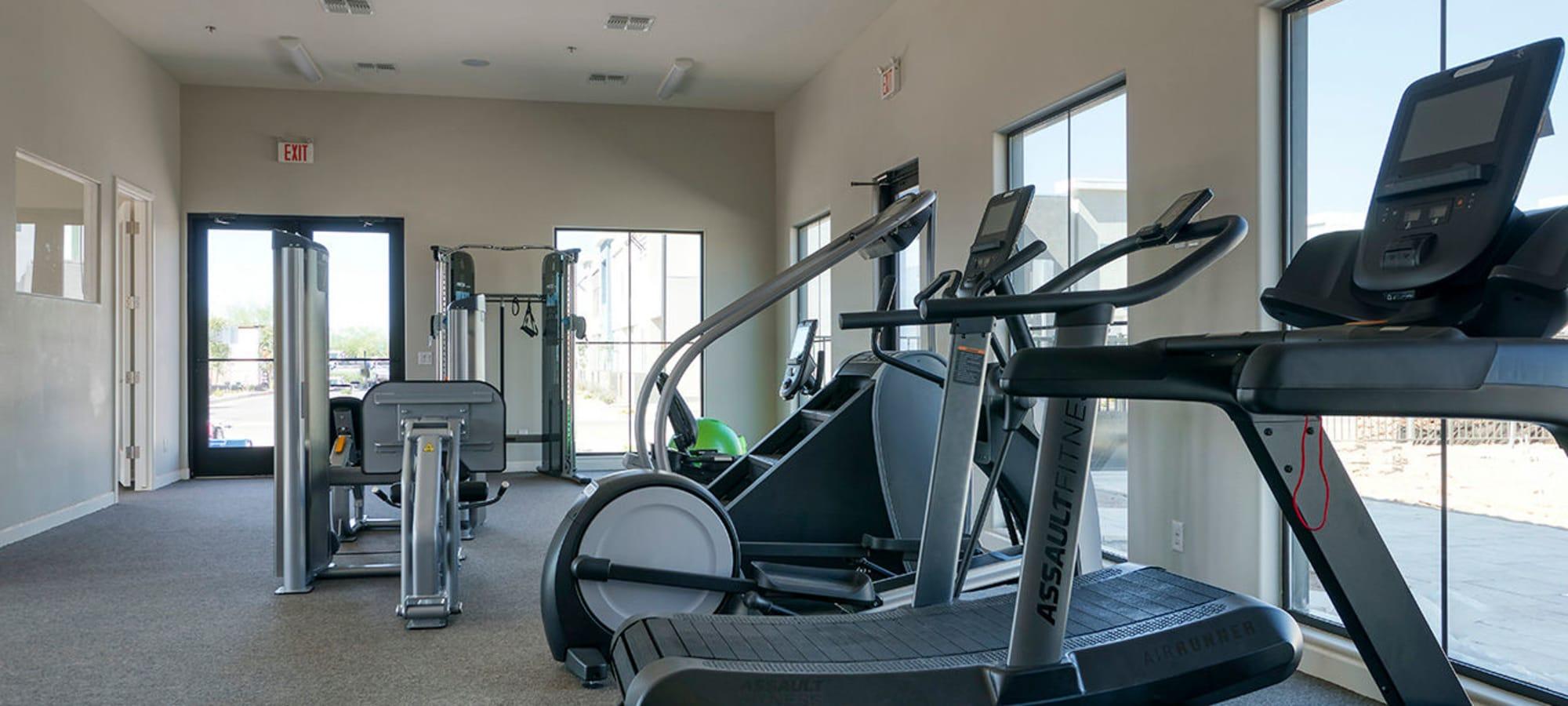 Fitness center at BB Living at Val Vista in Gilbert, Arizona