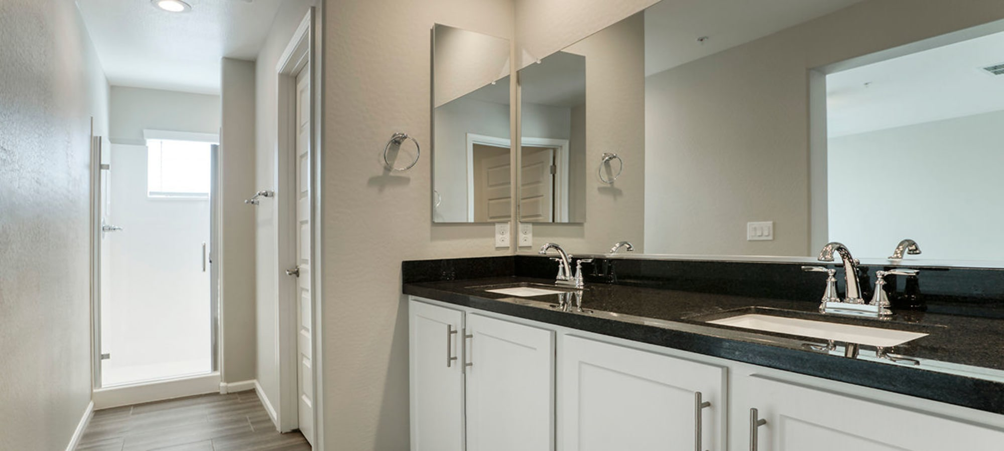 Spacious bathroom and stand up shower at BB Living at Eastmark in Mesa, Arizona