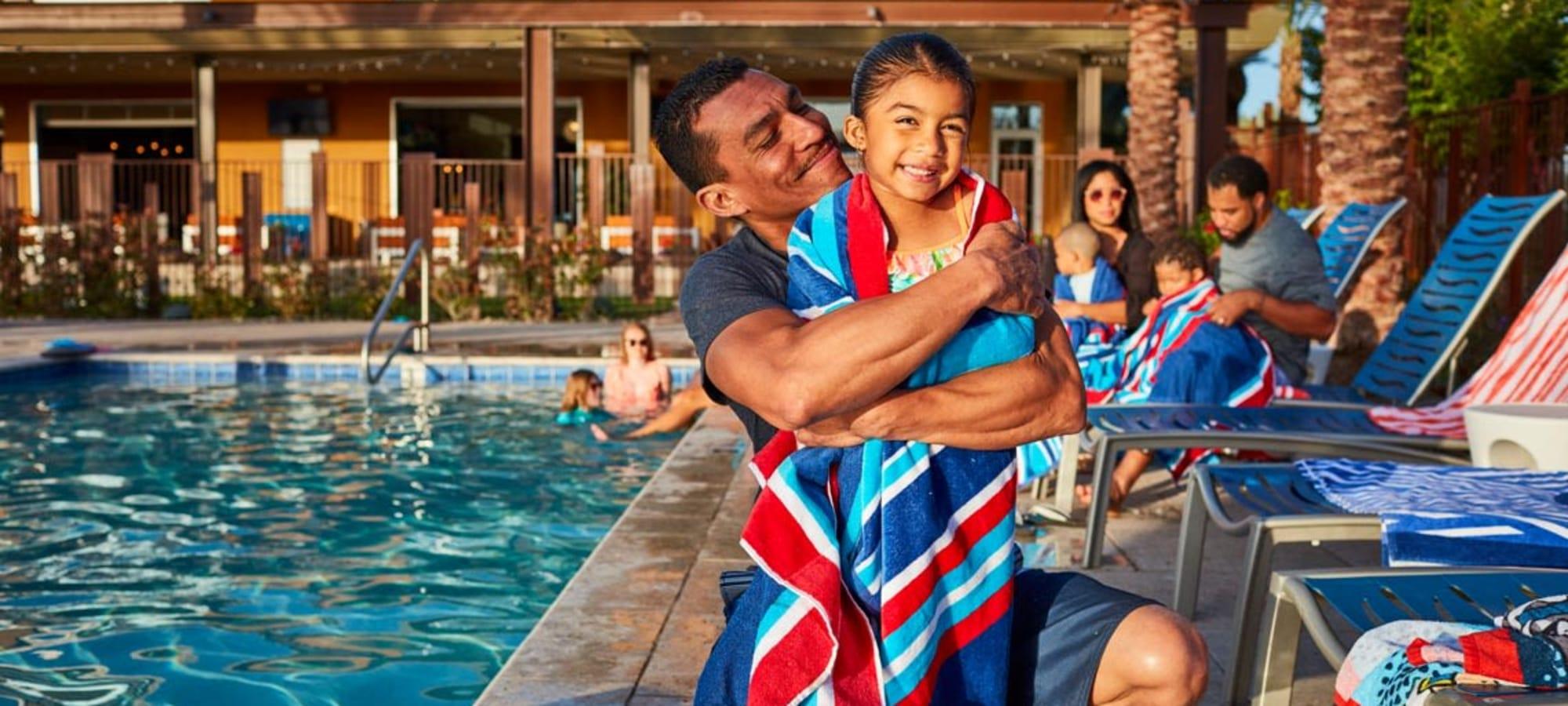 Residents at pool at  BB Living at Eastmark in Mesa, Arizona