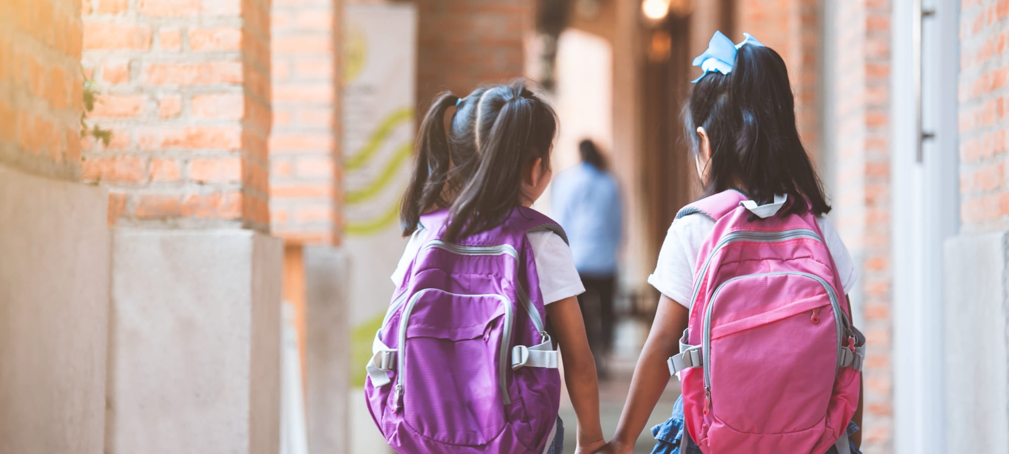 Children walking to school at BB Living at Eastmark in Mesa, Arizona