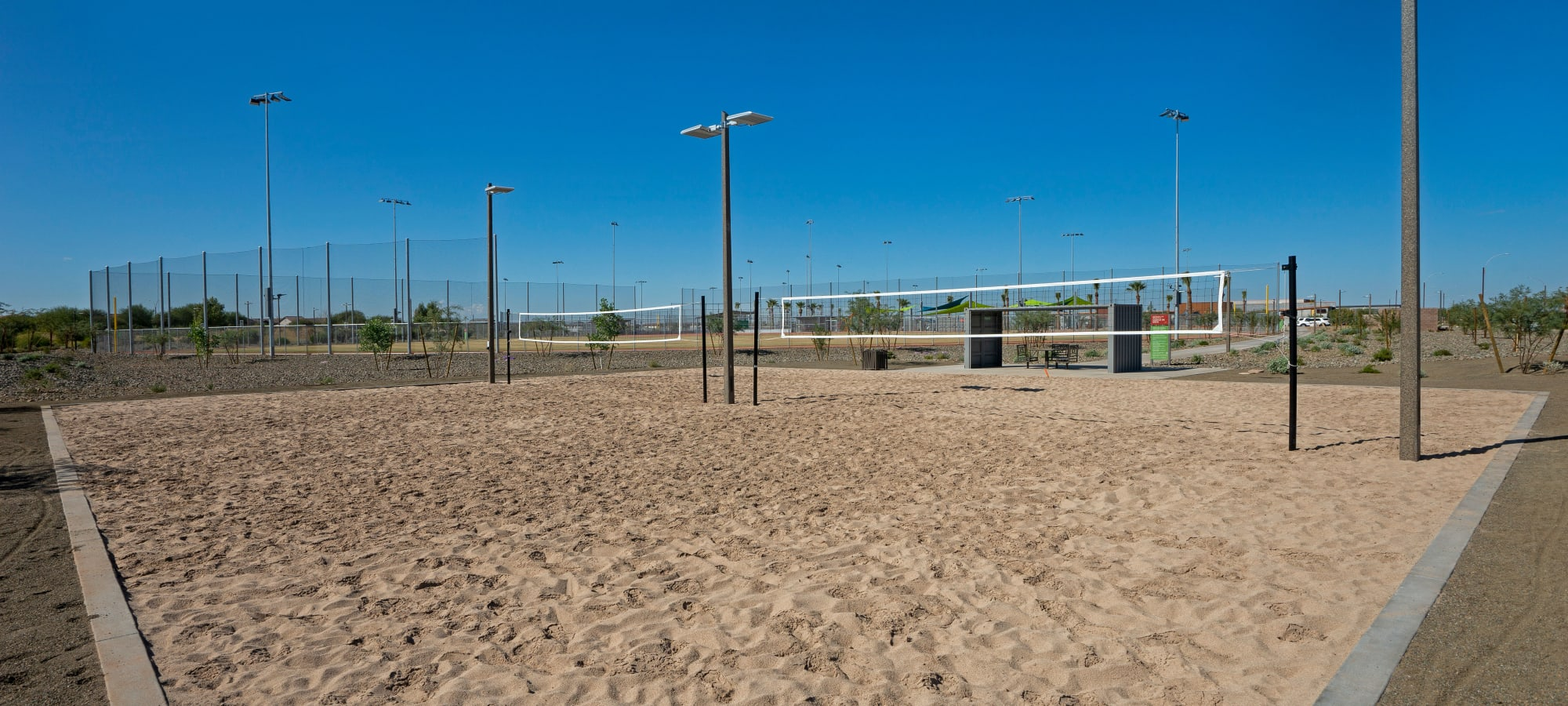 BB Living at Eastmark in Mesa, Arizona offers a volleyball sandpit