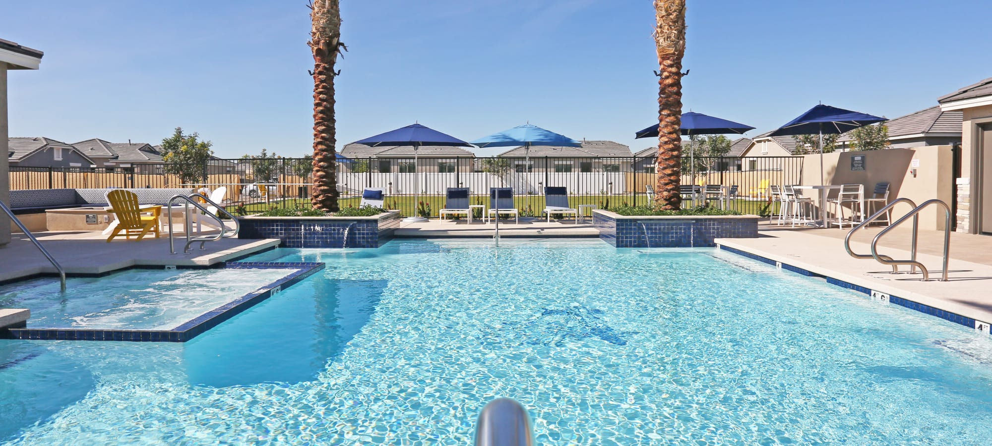 Swimming pool on another beautiful day at Christopher Todd Communities On Happy Valley in Peoria, Arizona