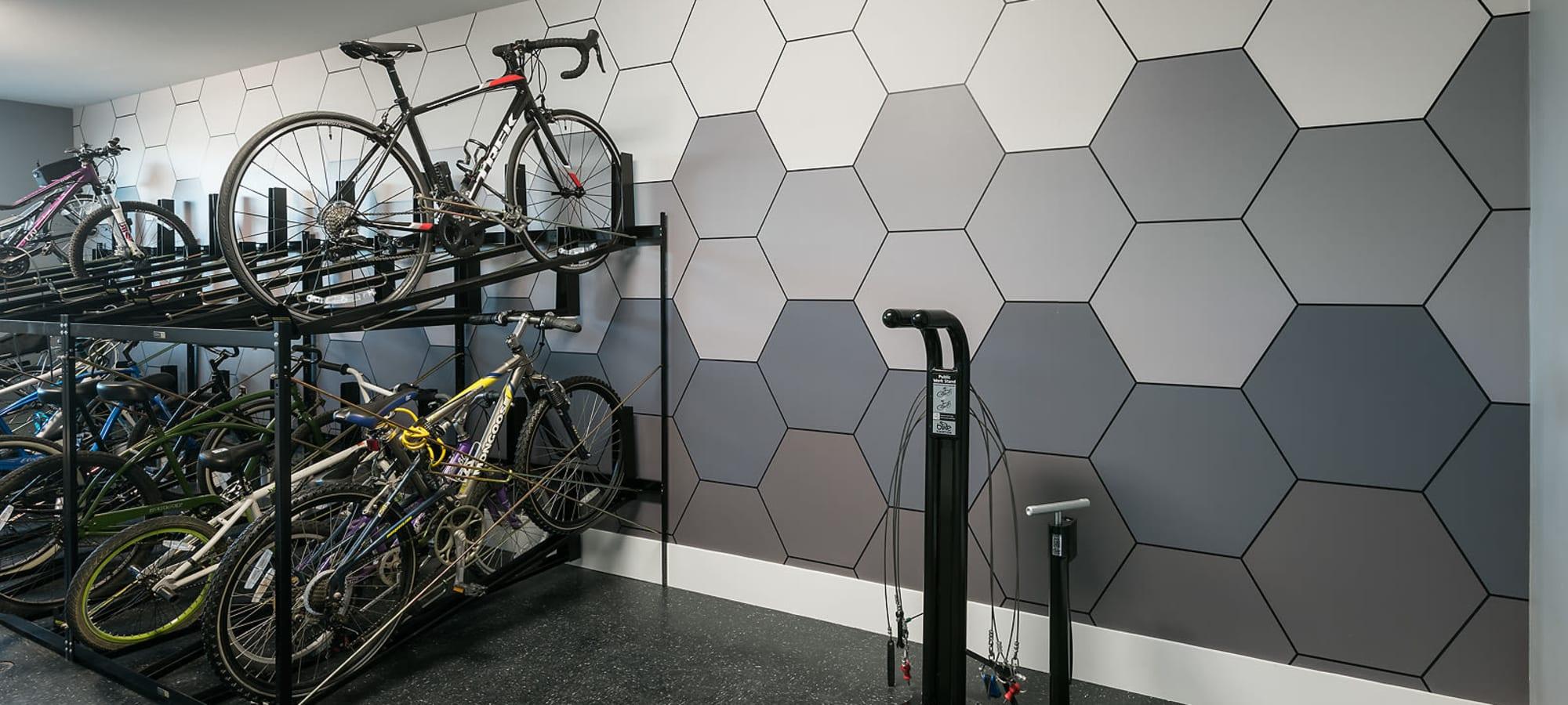 Bike storage at The Halsten at Chauncey Lane in Scottsdale, Arizona