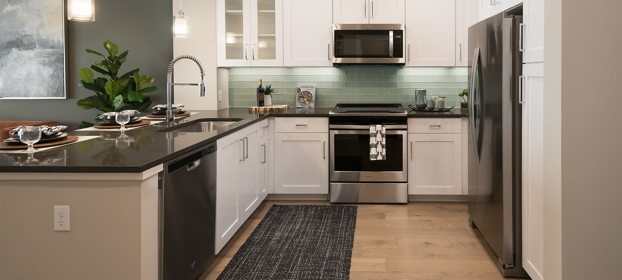 High end stainless steel appliances at The Halsten at Chauncey Lane in Scottsdale, Arizona