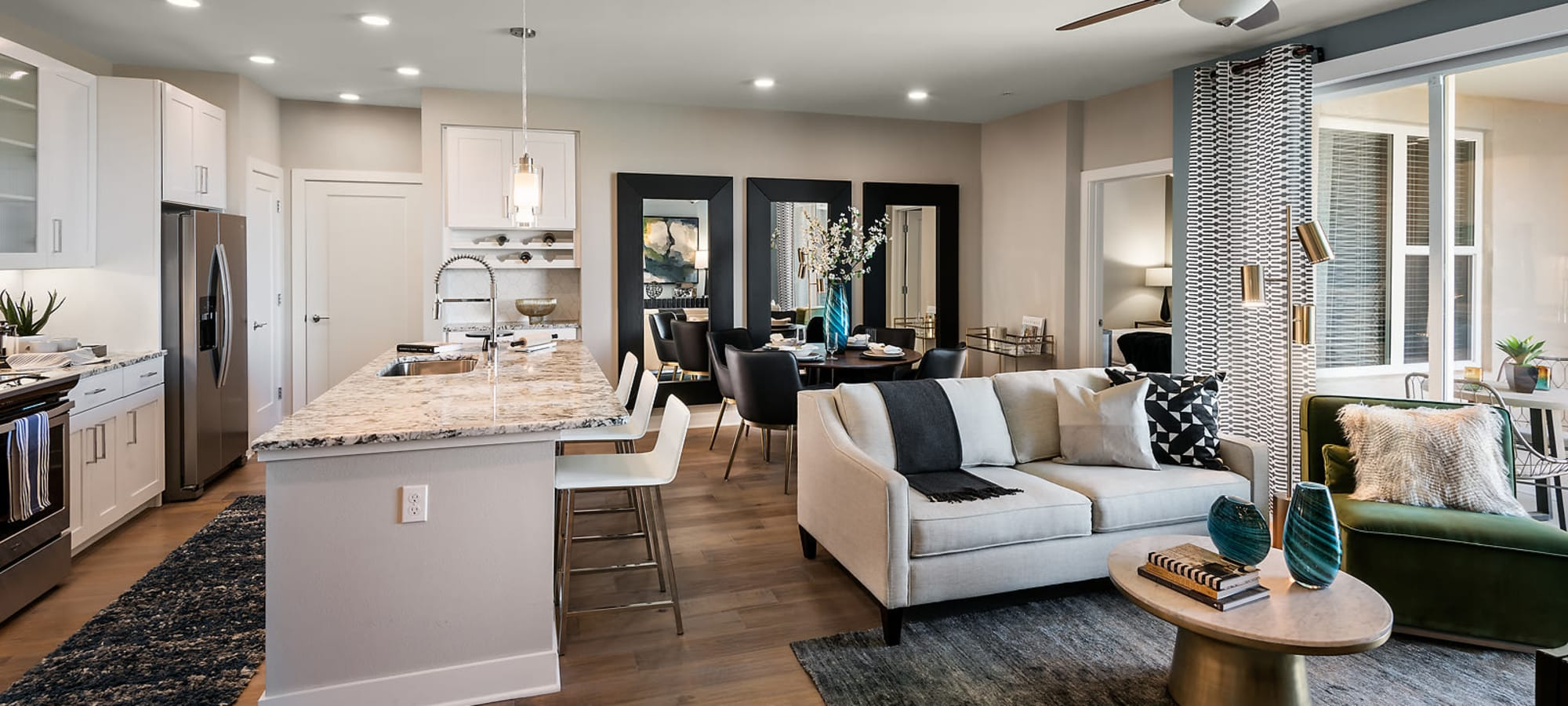 Spacious open floor plans at The Halsten at Chauncey Lane in Scottsdale, Arizona