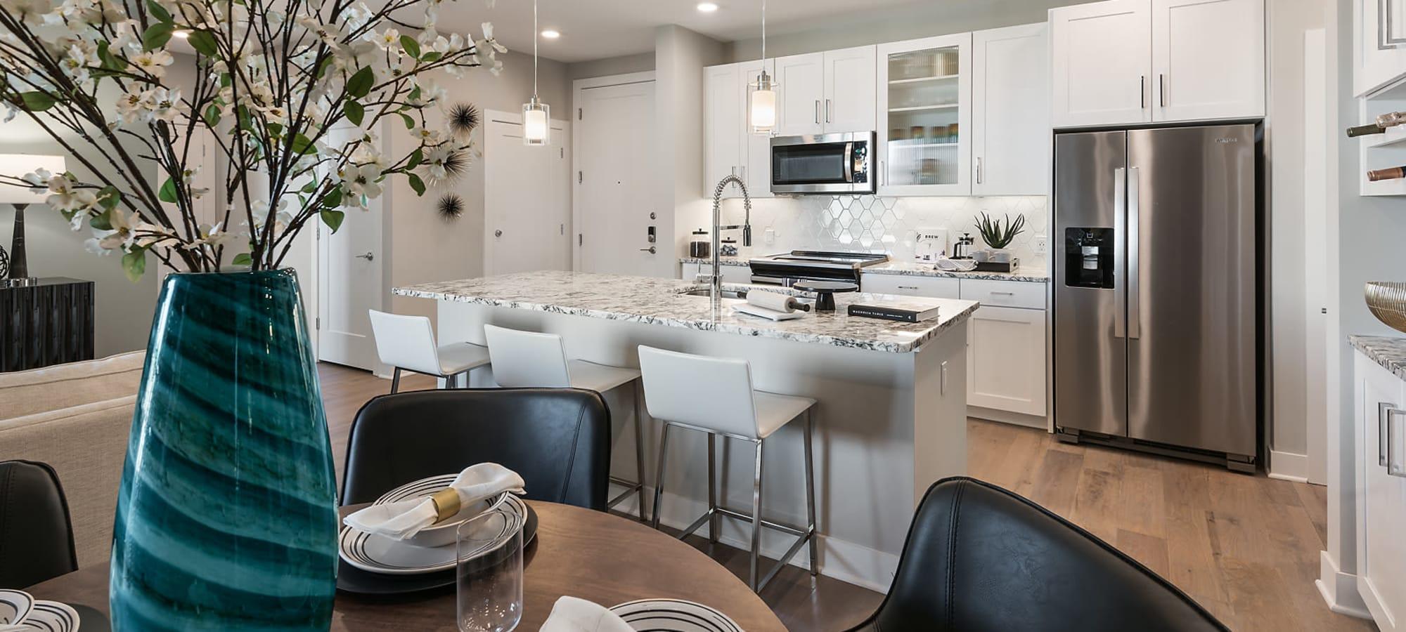 High end kitchen at The Halsten at Chauncey Lane in Scottsdale, Arizona