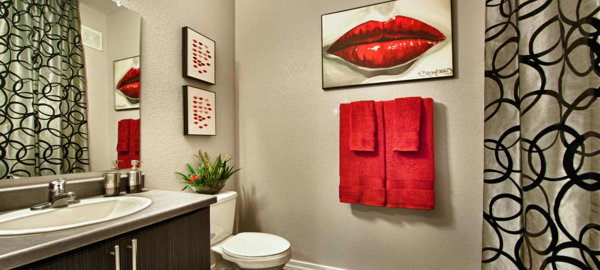 Modern bathroom at Avenue 25 Apartments in Phoenix, Arizona