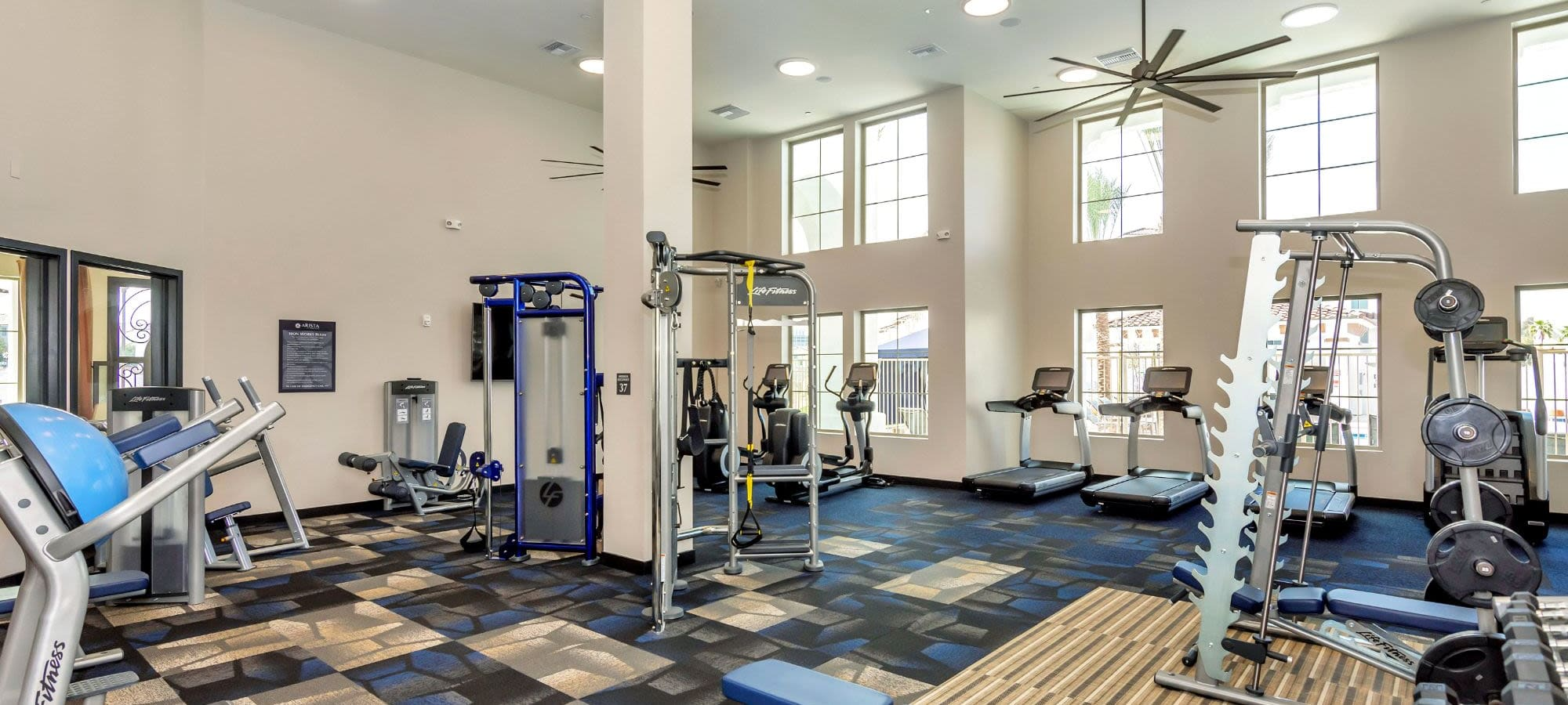 Fitness equipment at Arista at Ocotillo in Chandler, Arizona