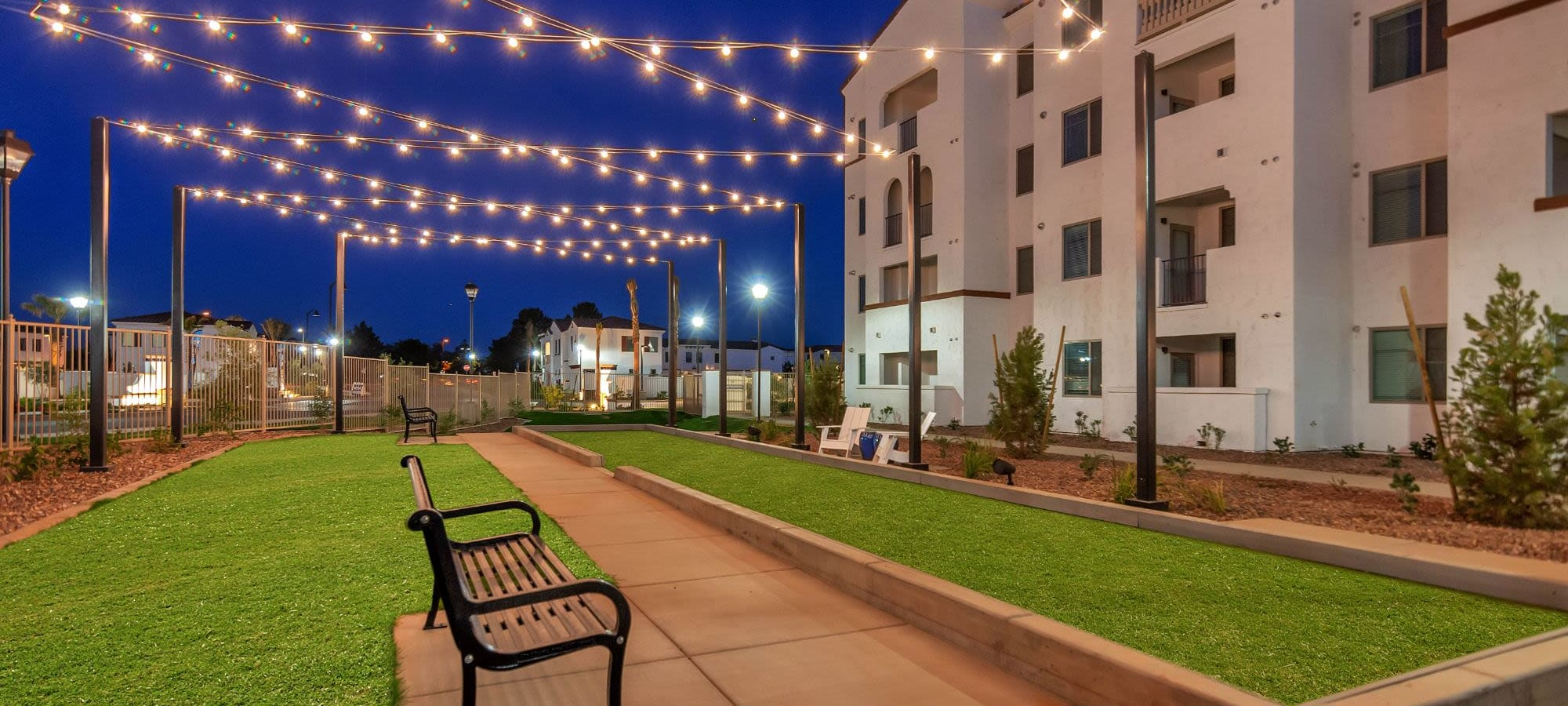 Spacious outdoor areas at Arista at Ocotillo in Chandler, Arizona