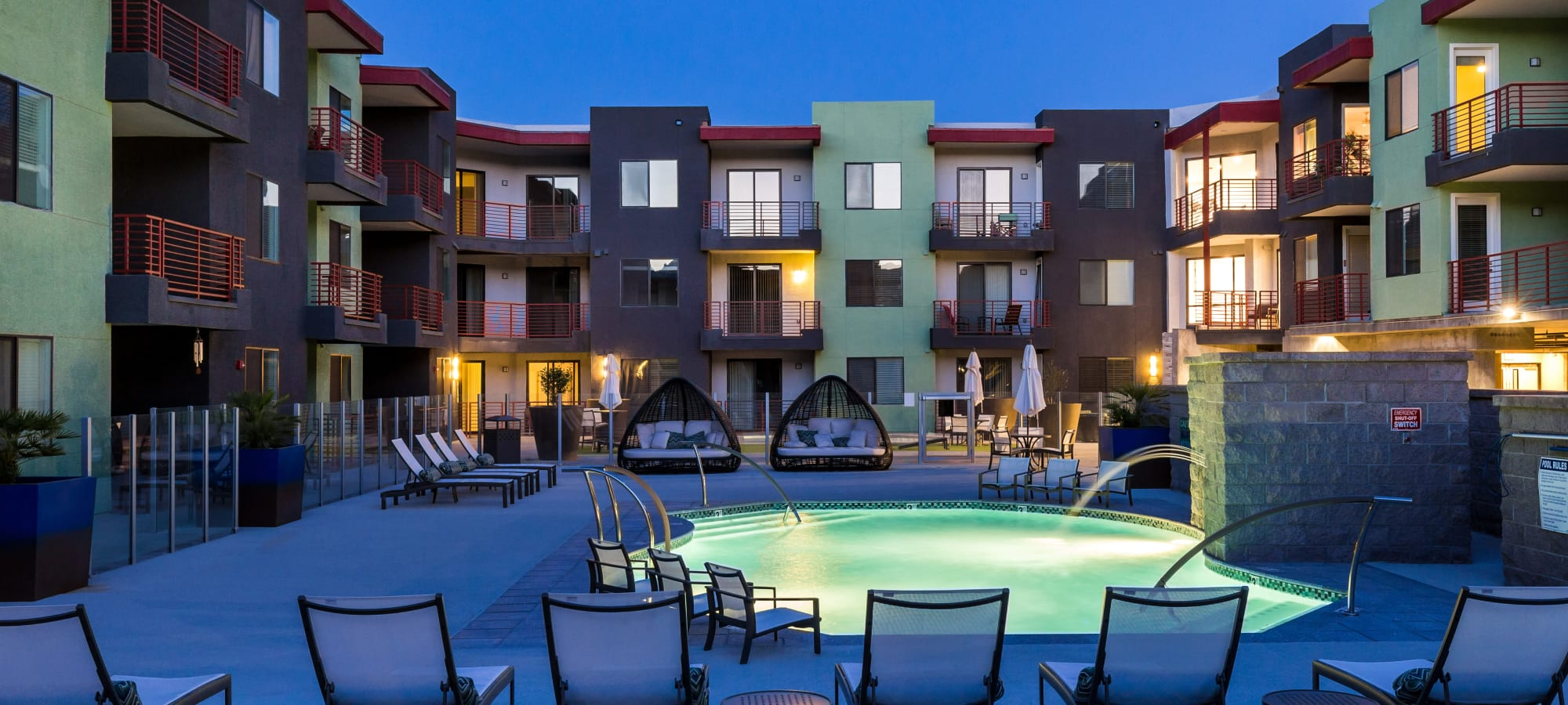 Beautiful courtyard at Park Place at Fountain Hills in Fountain Hills, Arizona