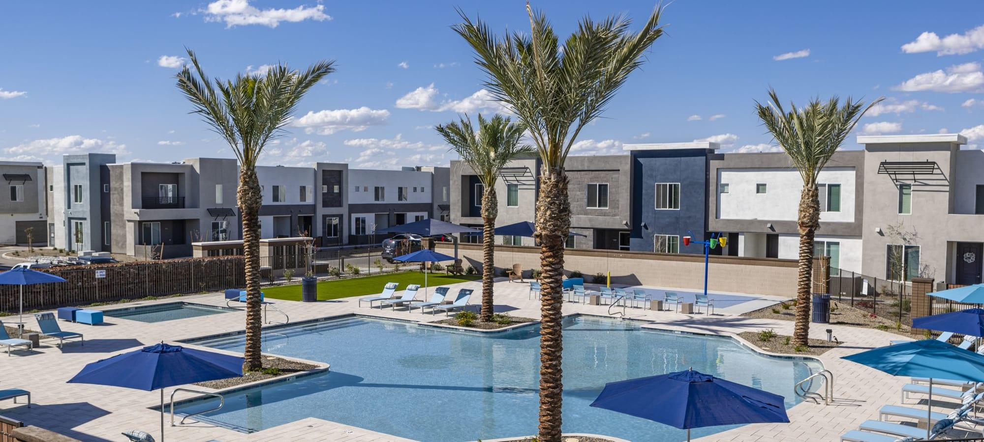 Front of building at BB Living at Val Vista in Gilbert, Arizona