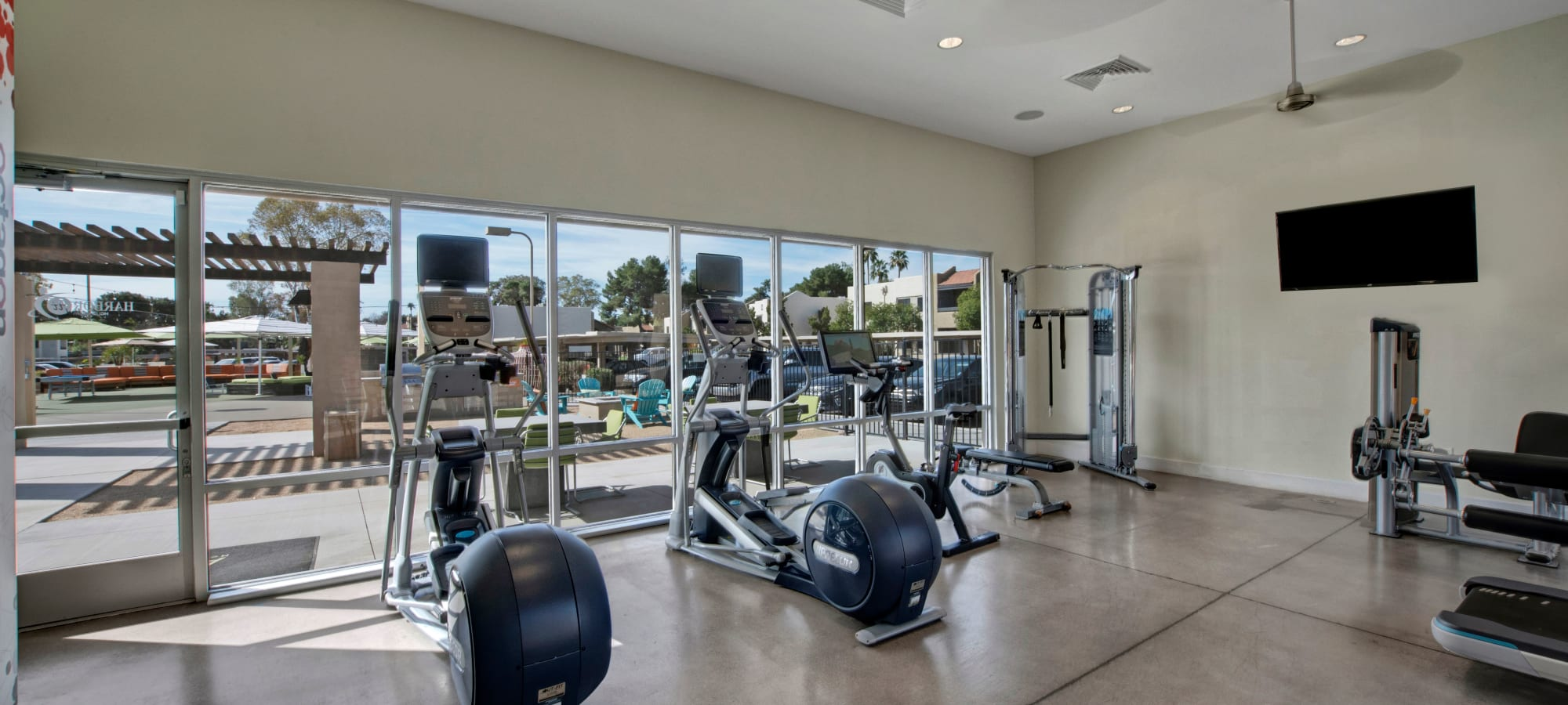 Gym area at Avia McCormick Ranch Apartments in Scottsdale, Arizona