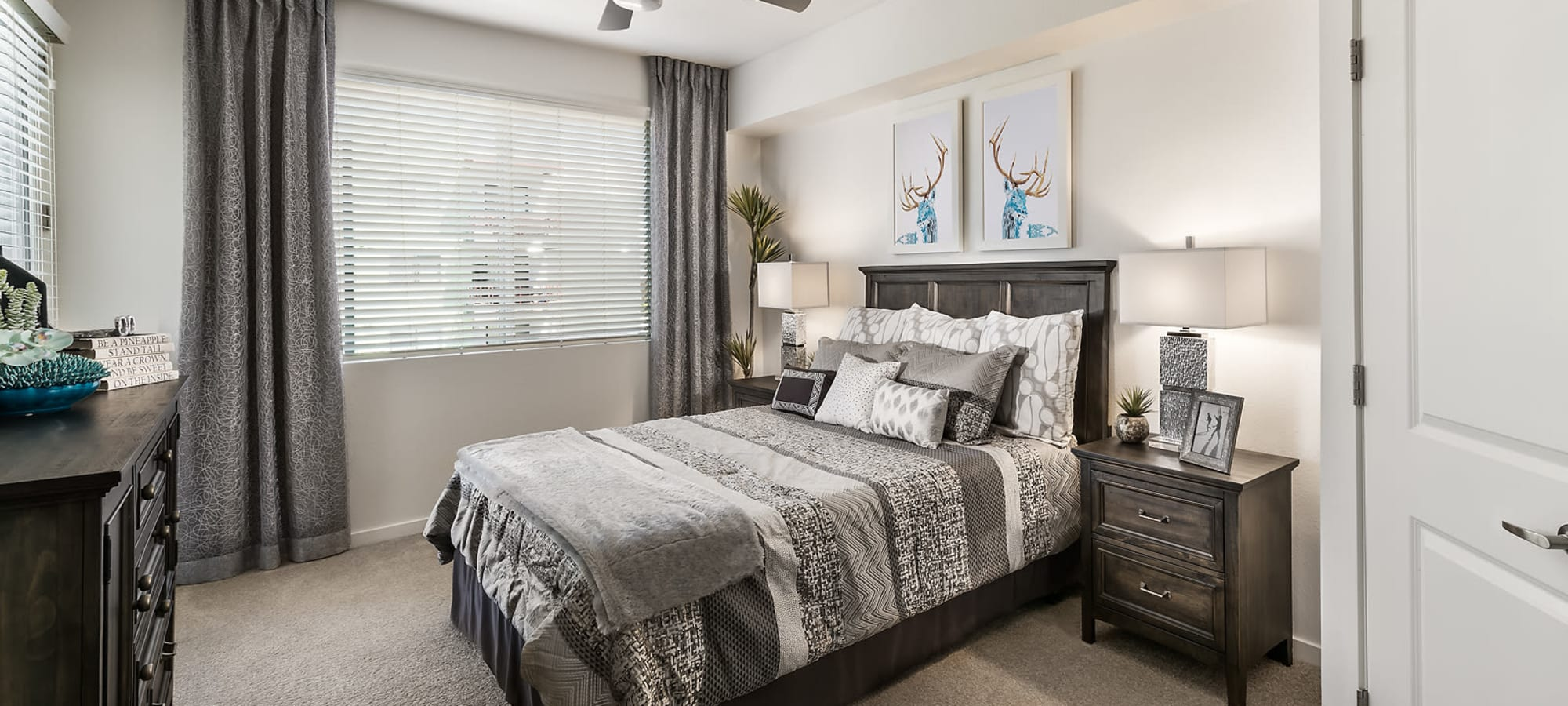 Comfortable bedroom at Park Place at Fountain Hills in Fountain Hills, Arizona