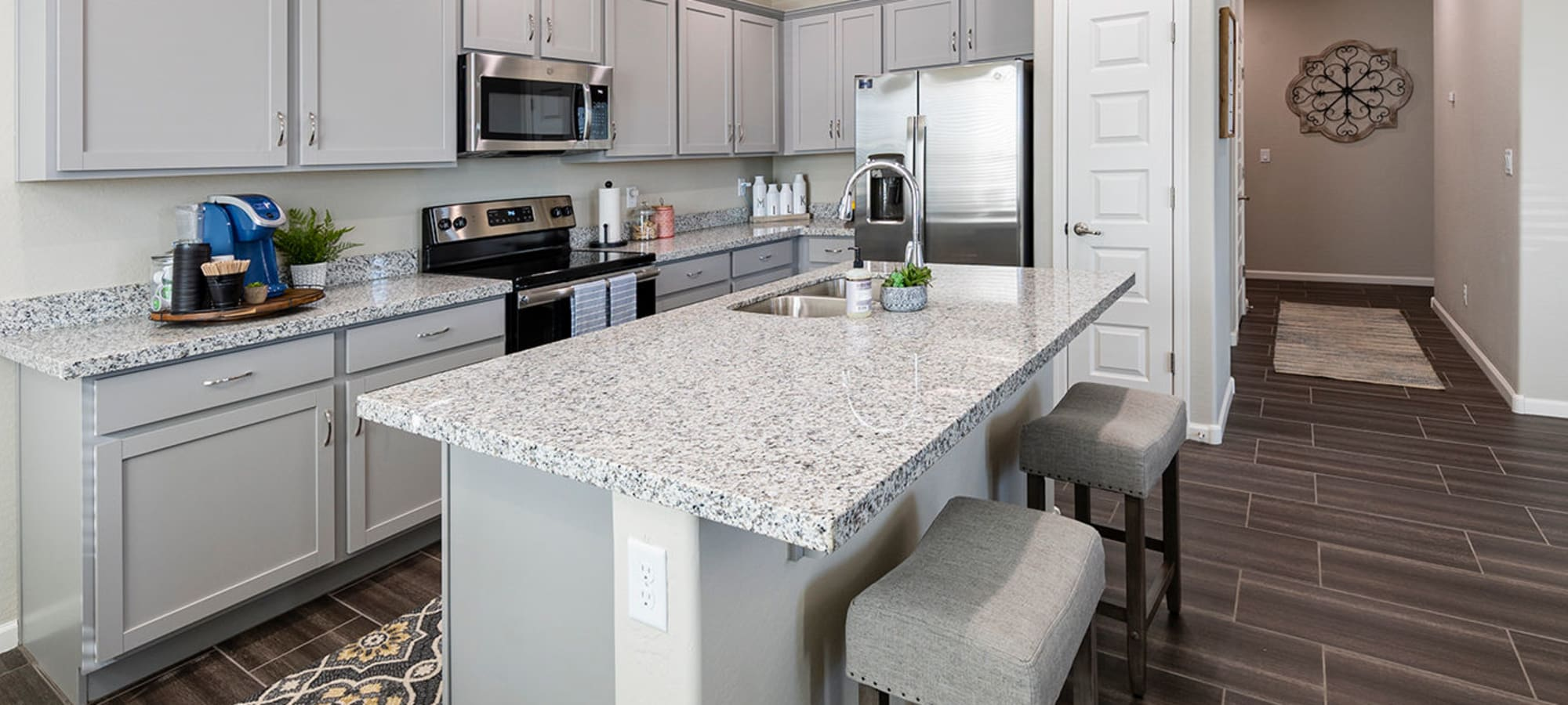 Spacious kitchen with stainless-steel appliances at BB Living at Eastmark in Mesa, Arizona