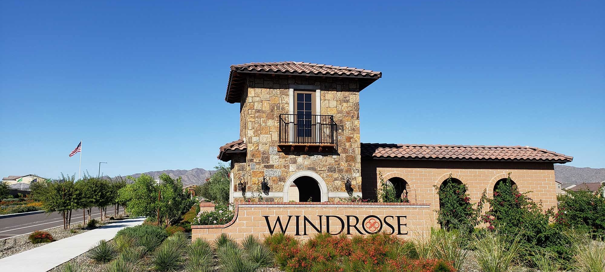 Neighborhood Entrance at Las Casas at Windrose in Litchfield Park, Arizona
