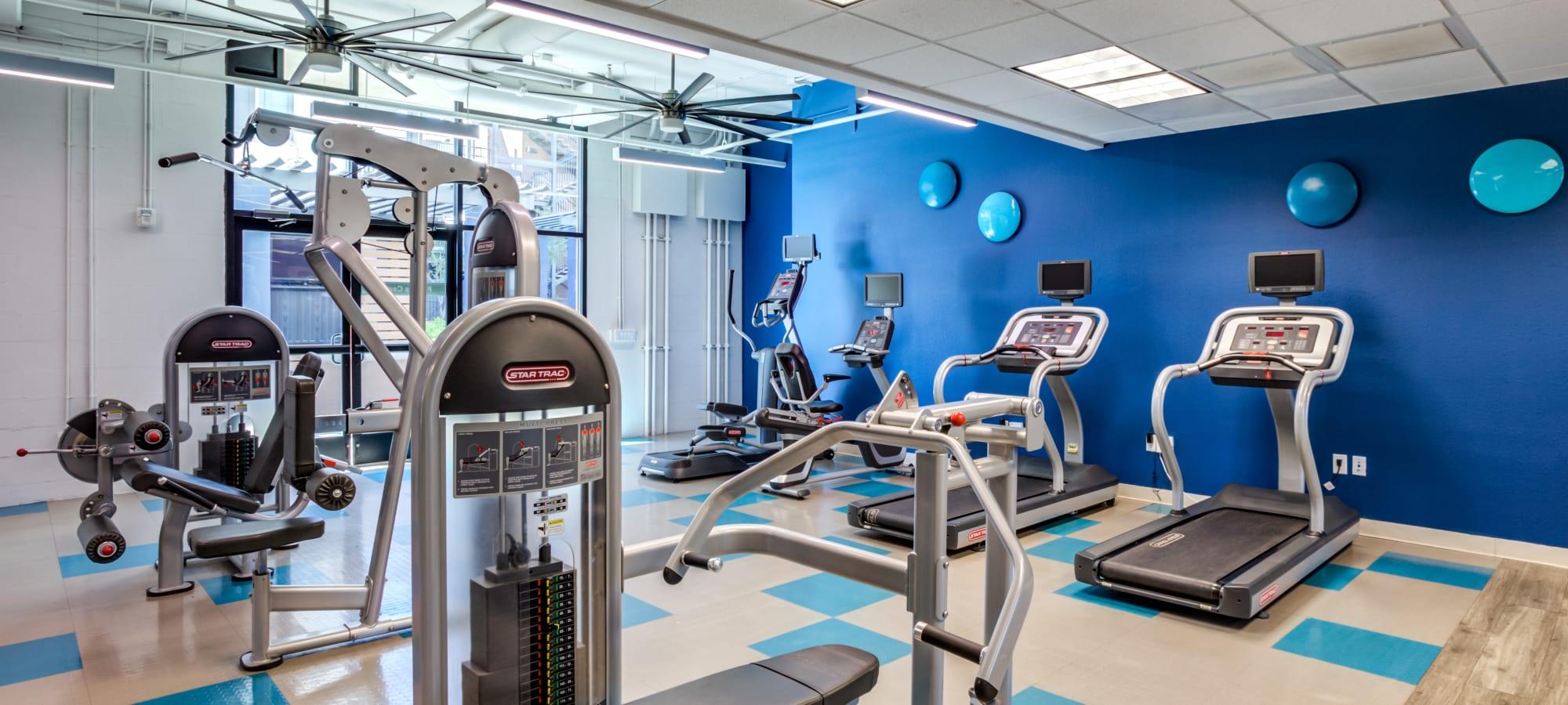 Treadmills at The Fleetwood in Tempe, Arizona