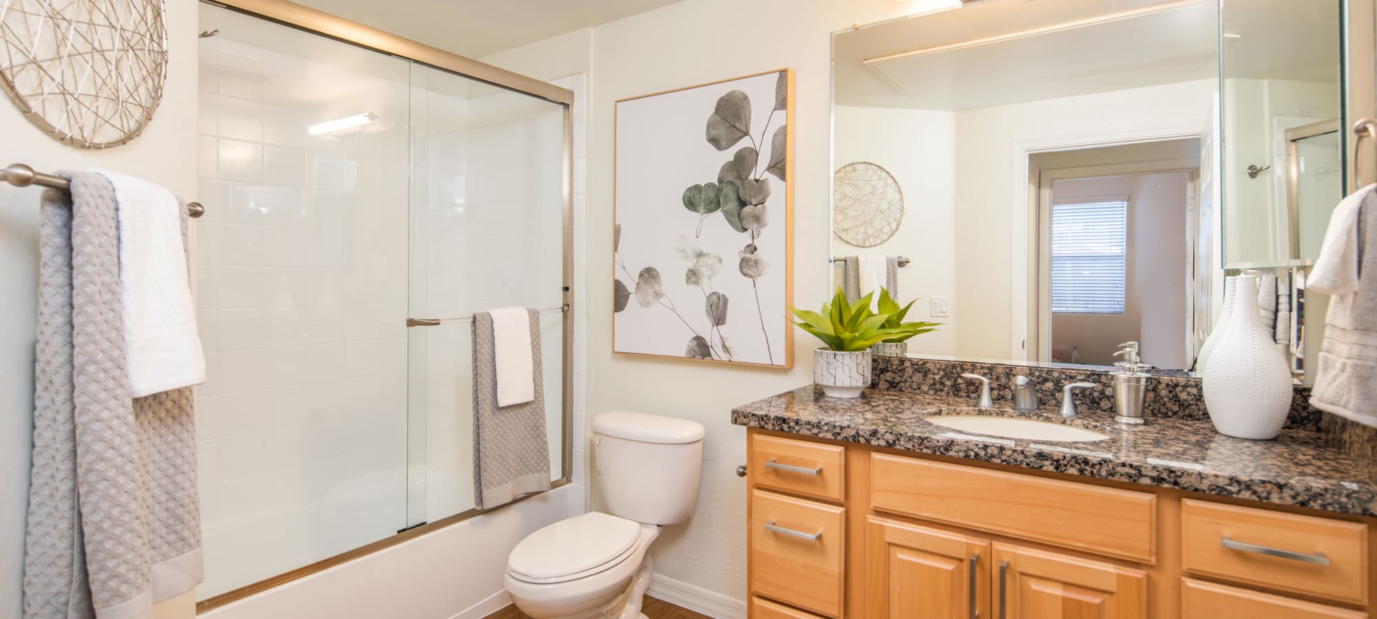 Bathroom layout at The Fleetwood in Tempe, Arizona
