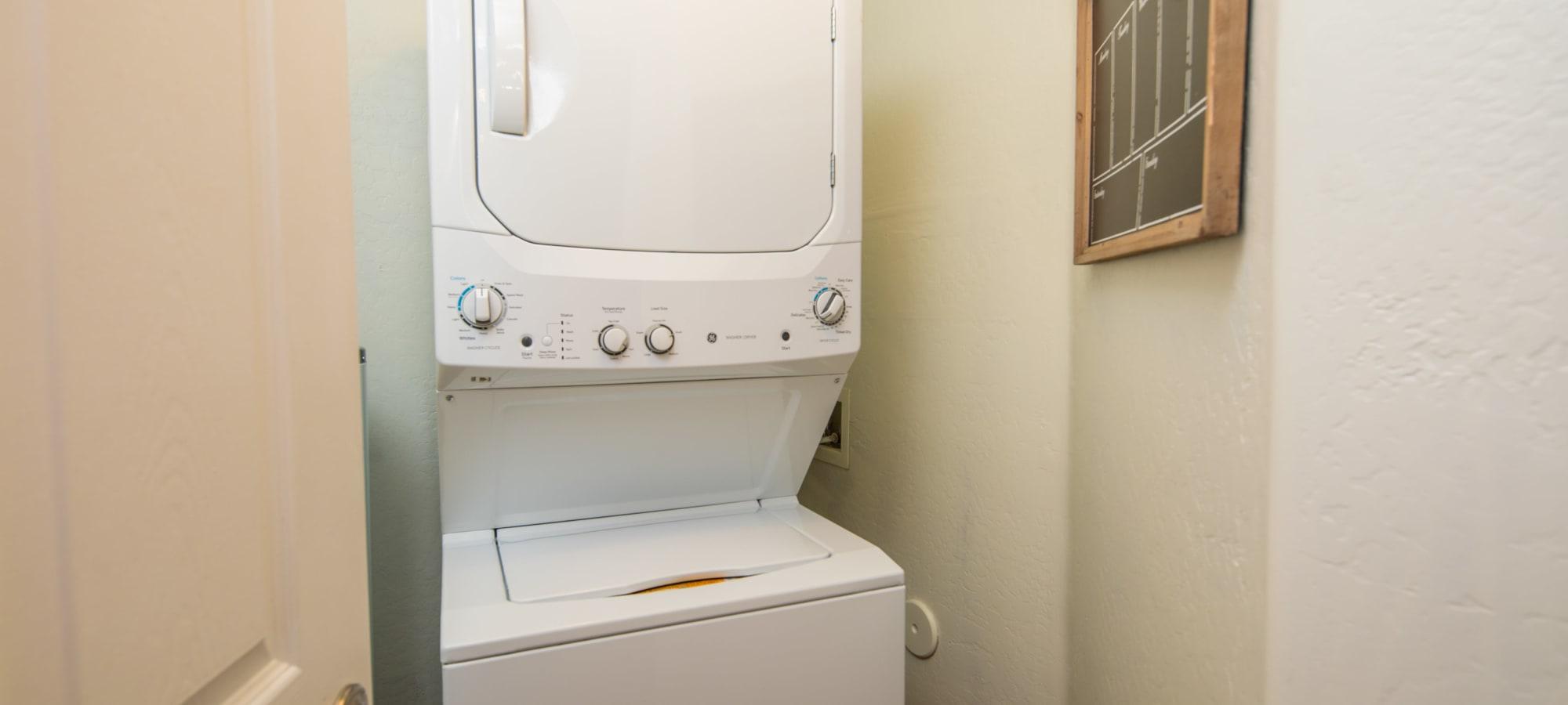 Washing machine at The Fleetwood in Tempe, Arizona
