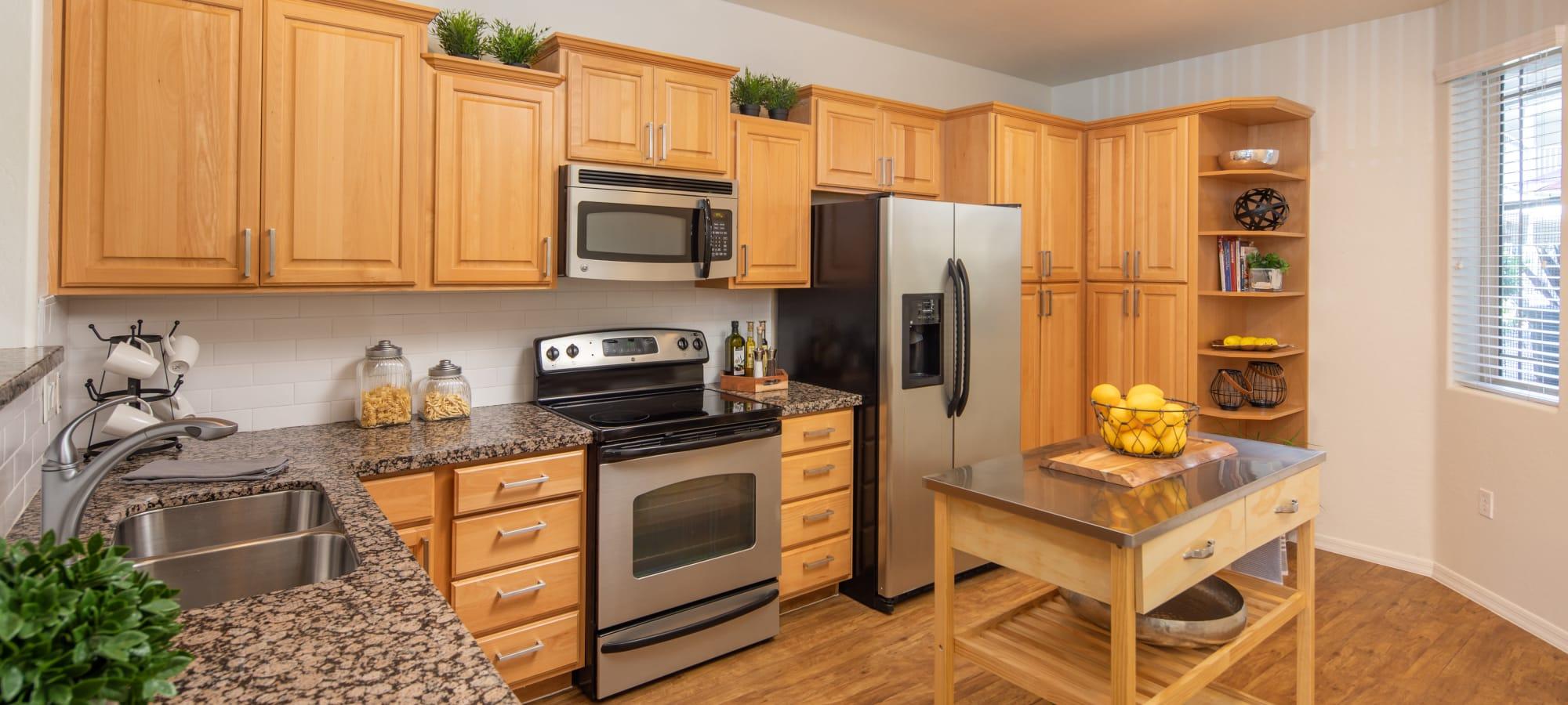 Quaint kitchen at The Fleetwood in Tempe, Arizona