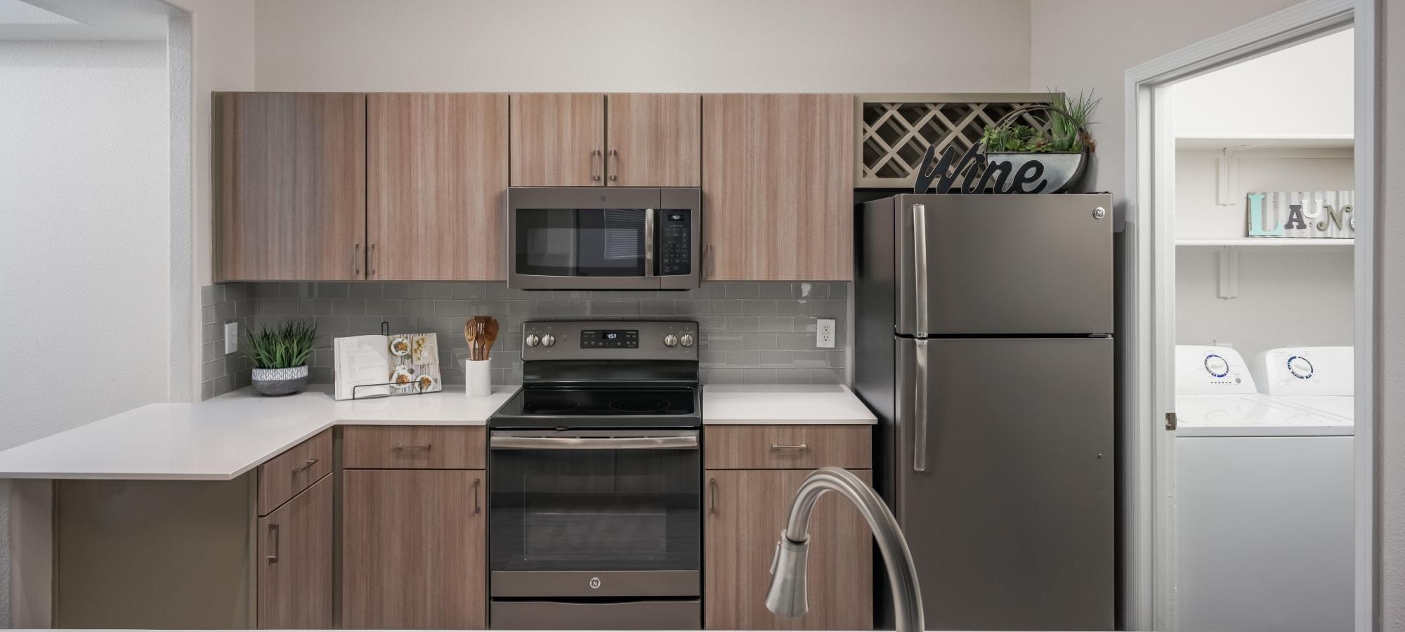 Very sleek kitchen at The Sterling in Gilbert, Arizona