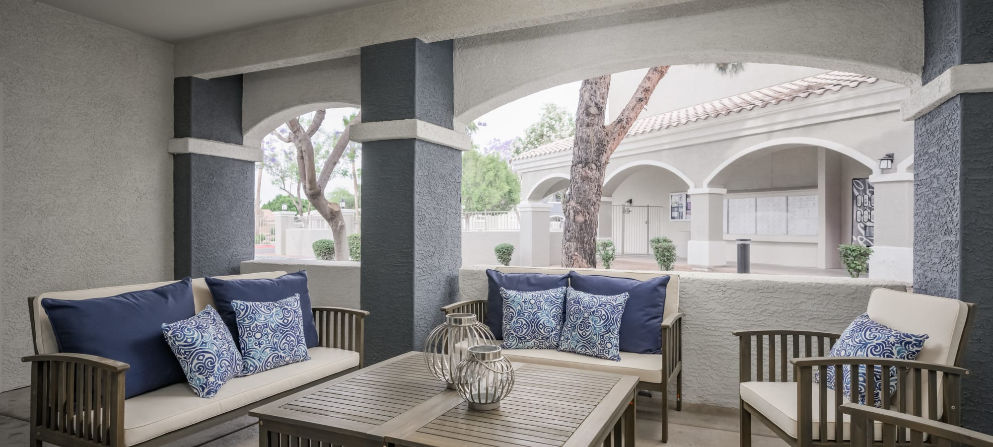 Clubhouse with window seating at The Sterling in Gilbert, Arizona