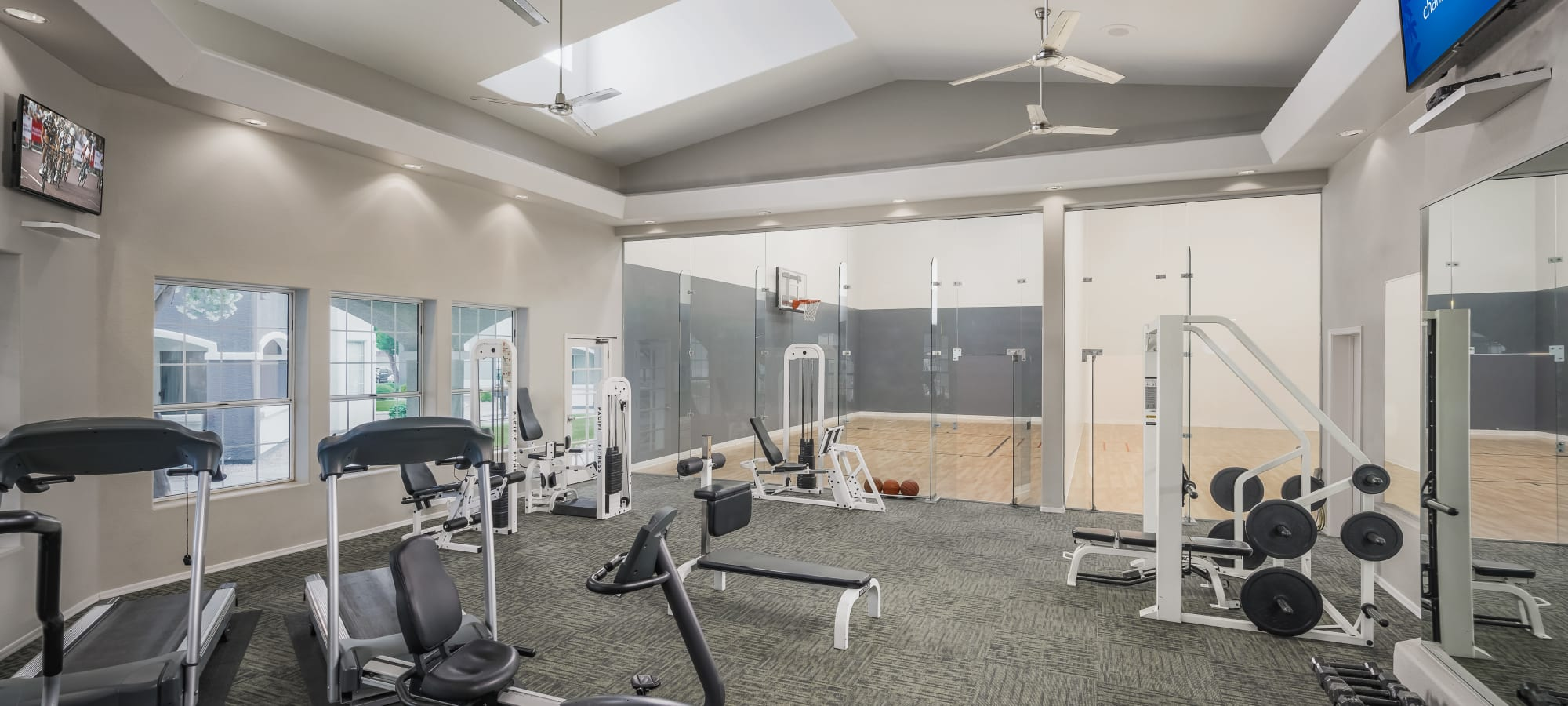 Large fitness center at The Sterling in Gilbert, Arizona