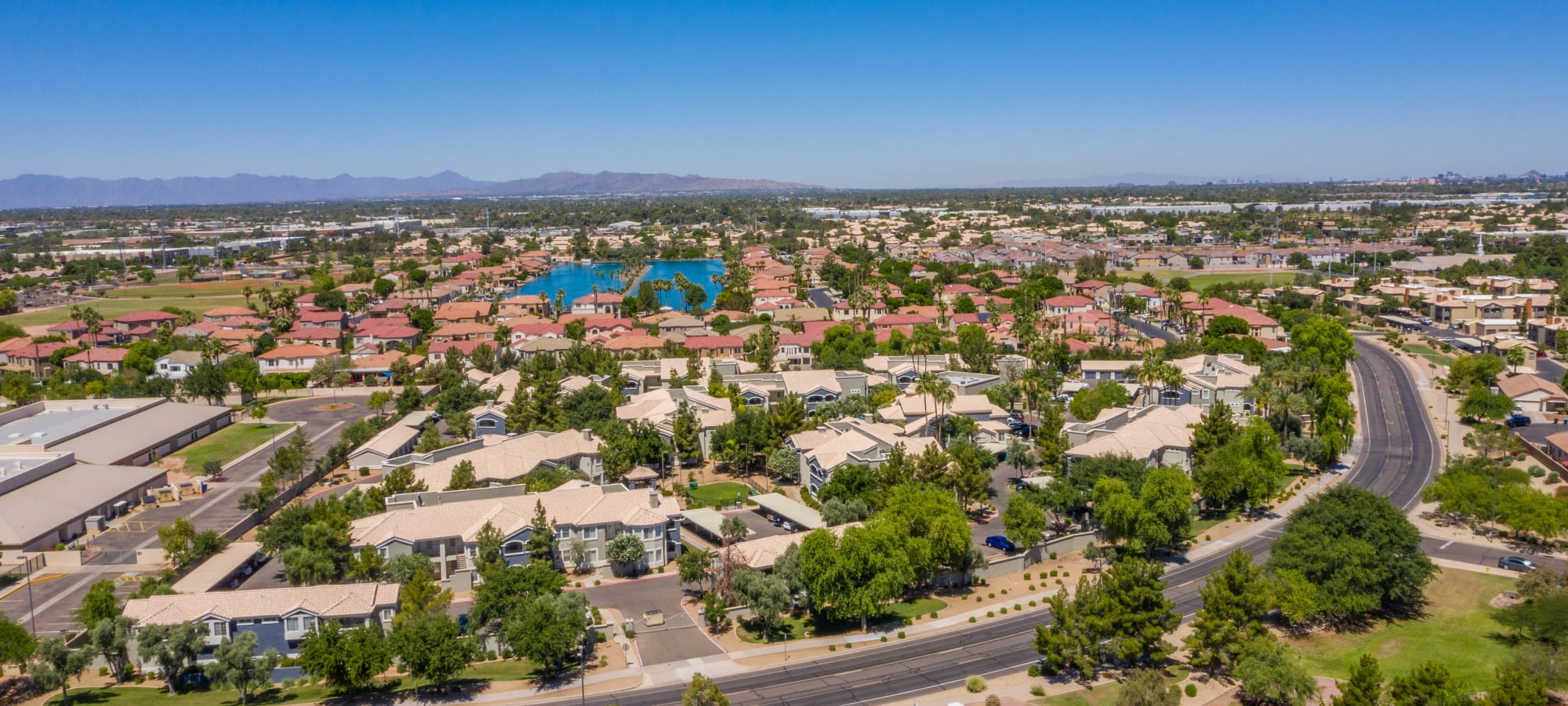 View of neighborhood from The Sterling in Gilbert, Arizona