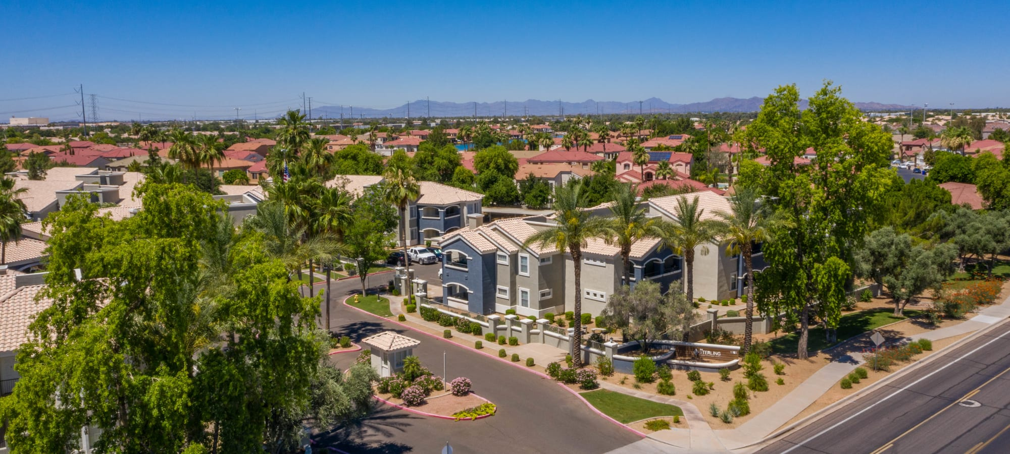 Exterior aerial view of The Sterling in Gilbert, Arizona