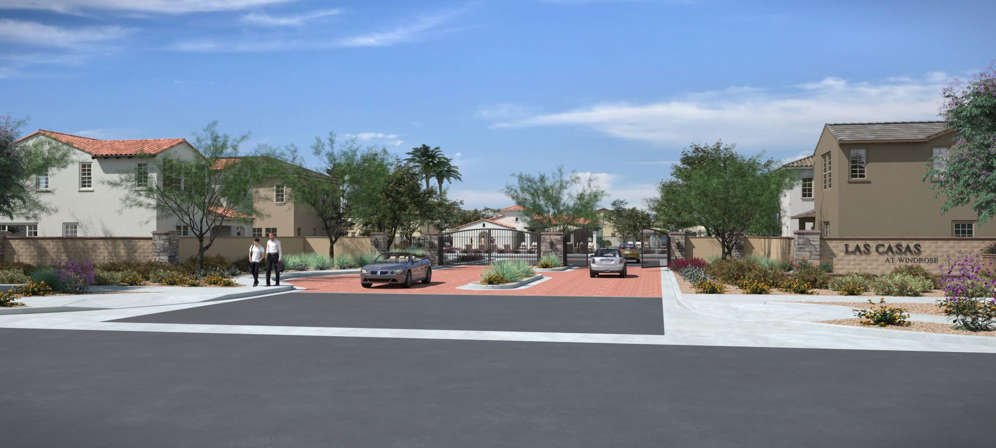 Community Entrance Rendering at Las Casas at Windrose in Litchfield Park, Arizona