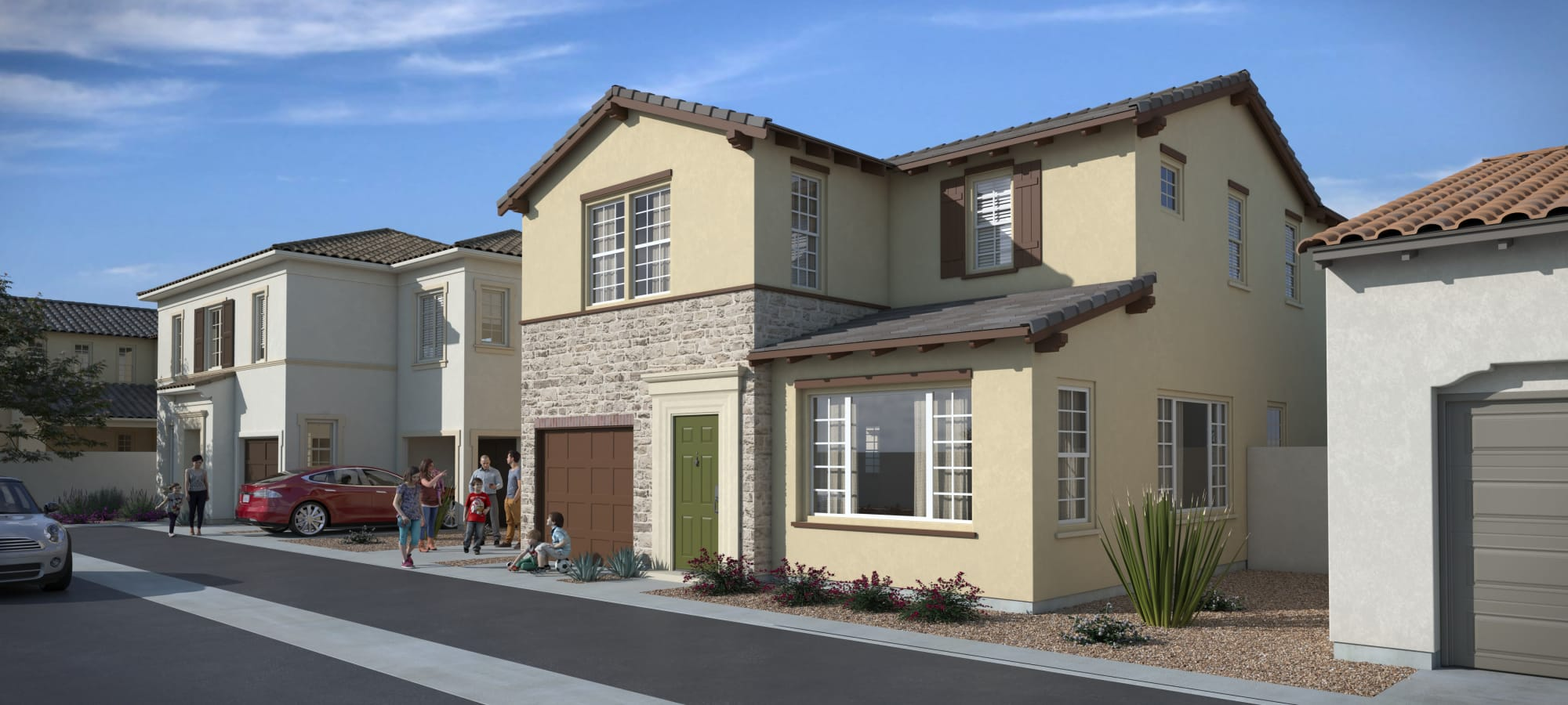 Model Home Rendering at Las Casas at Windrose in Litchfield Park, Arizona