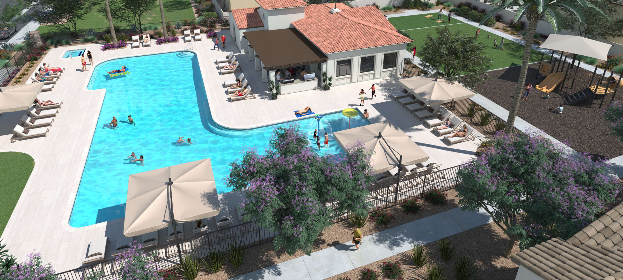 Pool Area at Las Casas at Windrose in Litchfield Park, Arizona