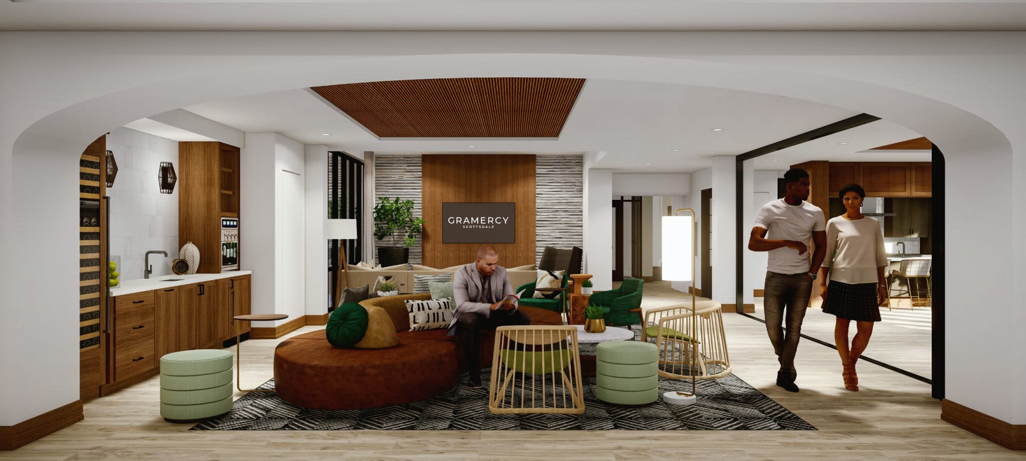 Community lounge at Gramercy Scottsdale in Scottsdale, Arizona