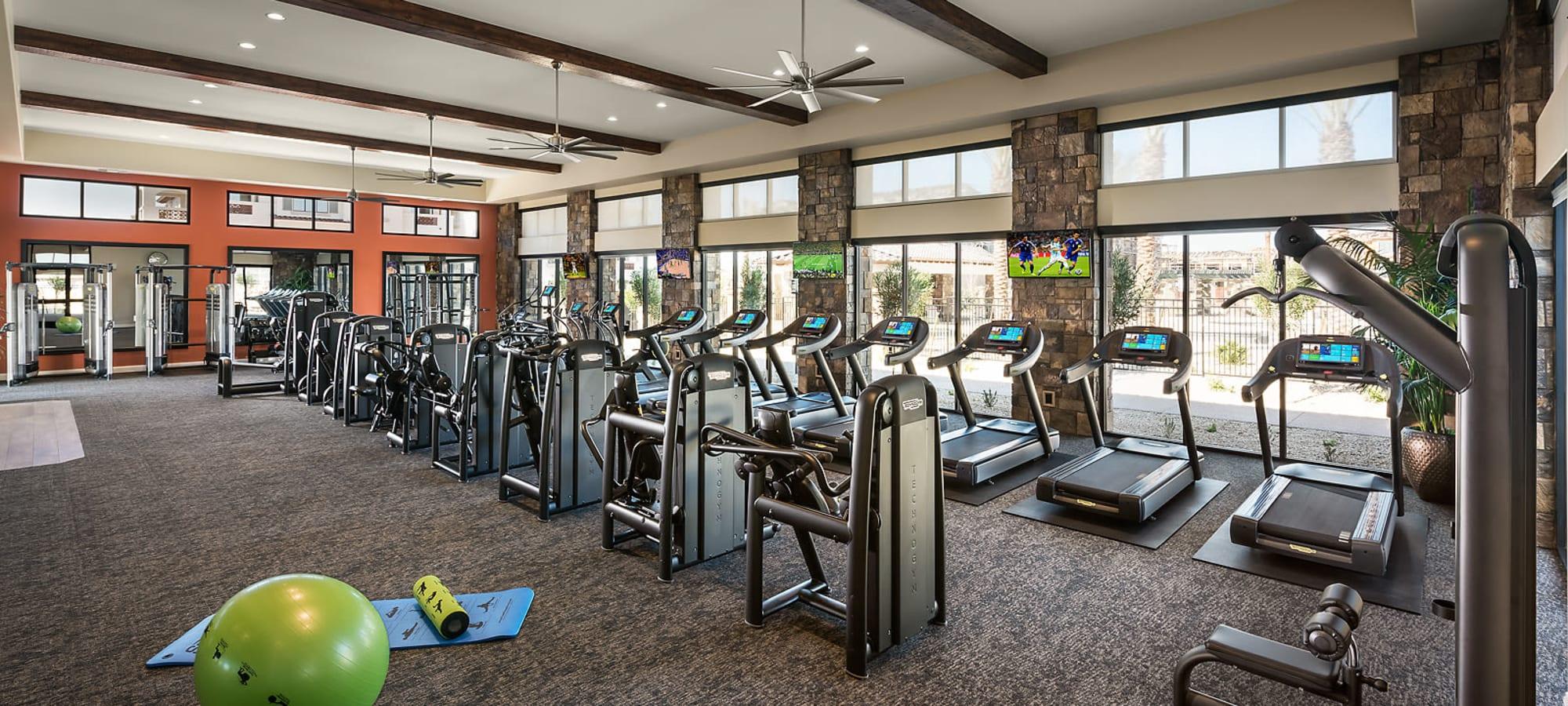 Fitness center at San Artes in Scottsdale, Arizona